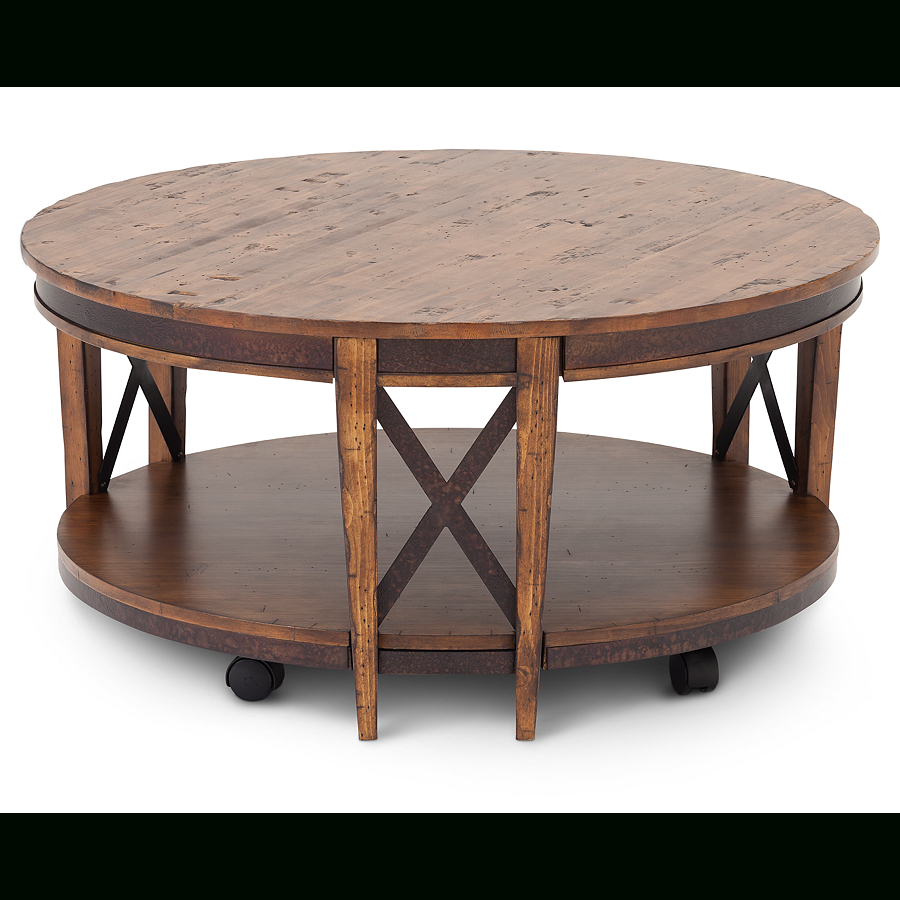 Round Coffee With Newest Winslet Cherry Finish Wood Oval Coffee Tables With Casters (View 14 of 20)