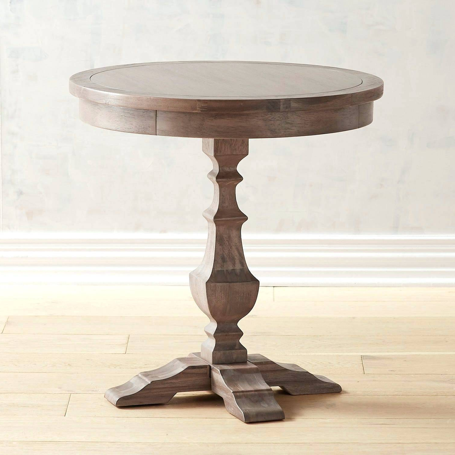 Round End Table Wood – Barrettrosse (View 11 of 20)