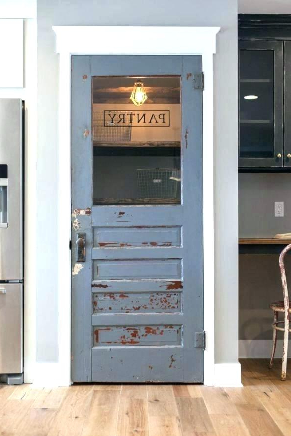 Rustic Kitchen Pantry Distressed White – Locoapp Throughout Best And Newest Mihika Kitchen Pantry (View 15 of 20)