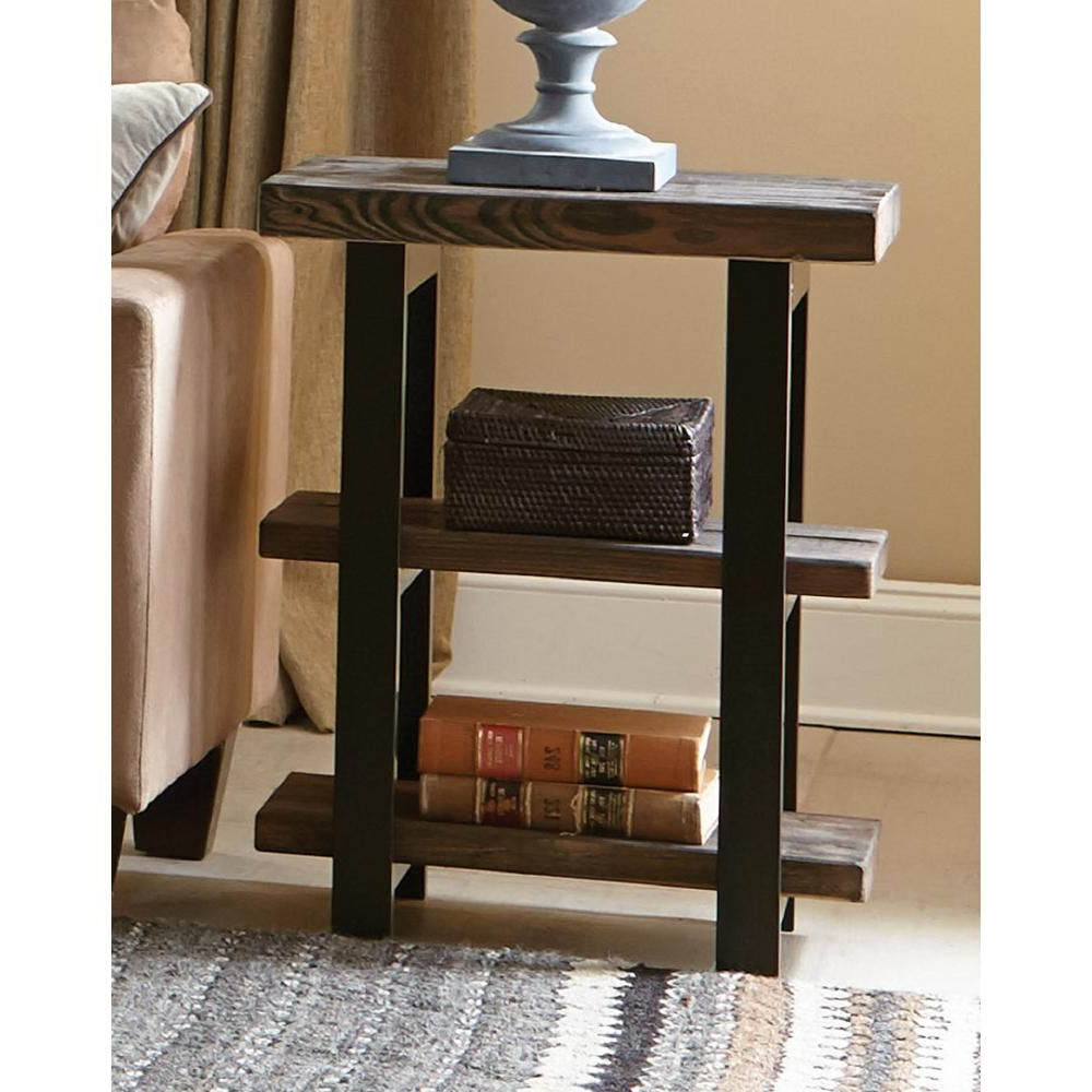 Rustic Pertaining To Famous Carbon Loft Kenyon Cube Brown Wood Rustic Coffee Tables (View 19 of 20)