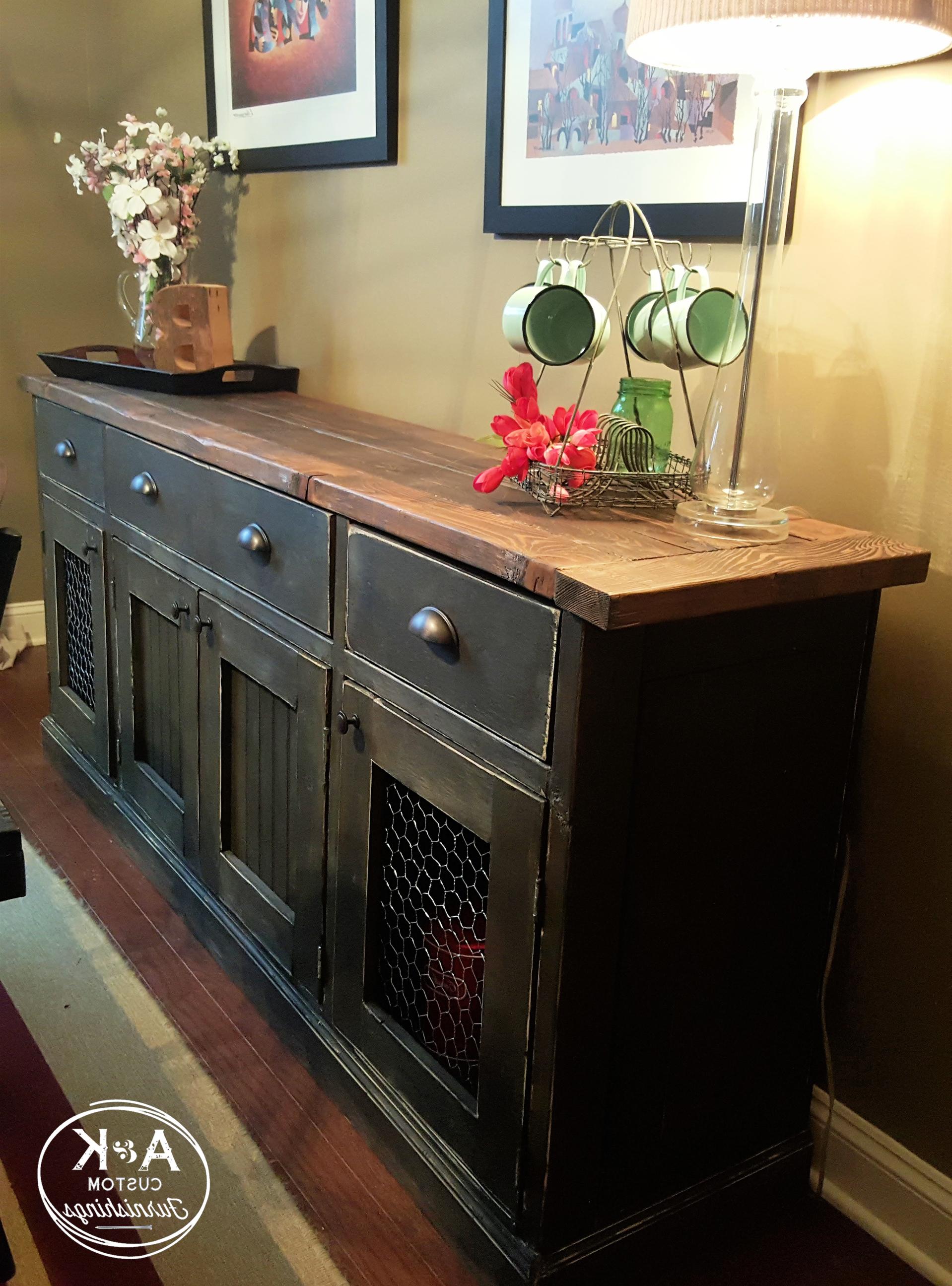 Rustic Sideboard | Storage | Rustic Sideboard, Dining Room Within Langsa Sideboards (View 17 of 20)