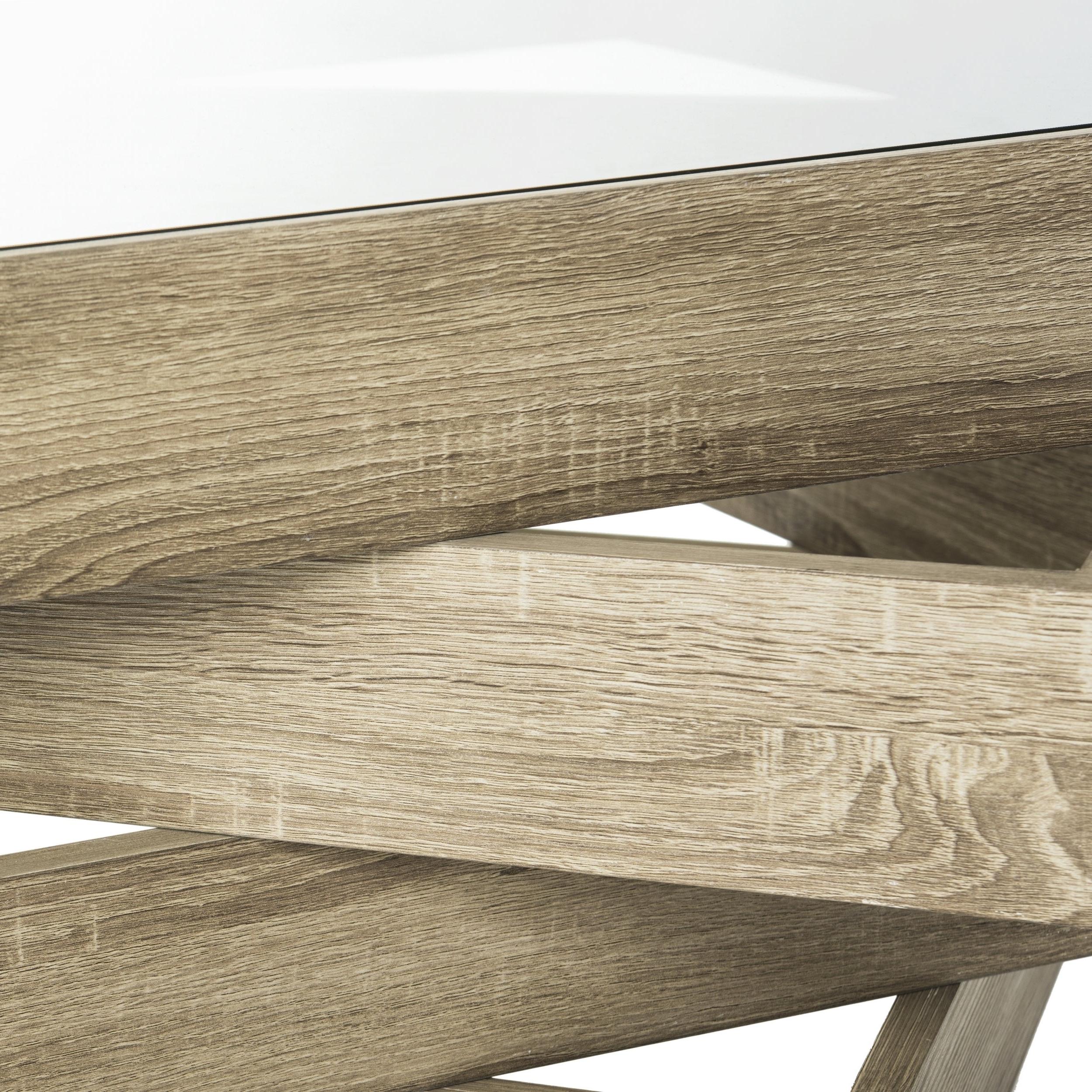 "Safavieh Anwen Geometric Wood Coffee Table – 33.5"" X 33.5"" X (View 2 of 20)"
