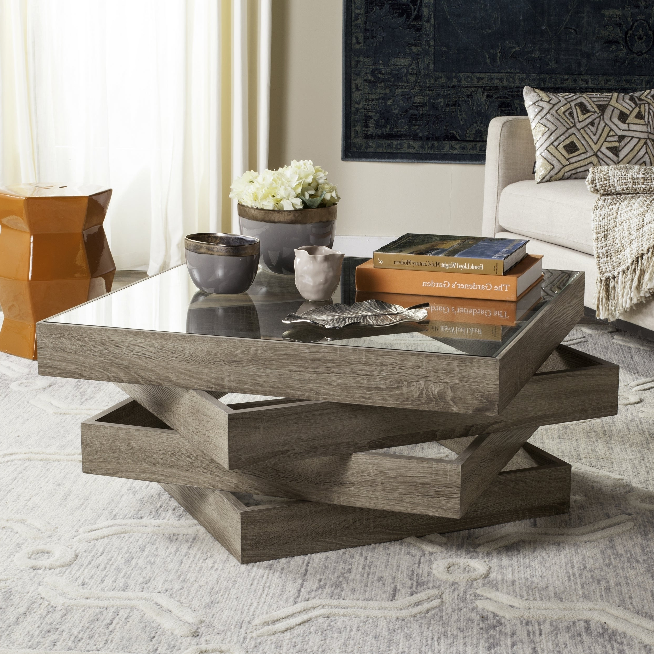 Featured Photo of Safavieh Anwen Geometric Wood Coffee Tables