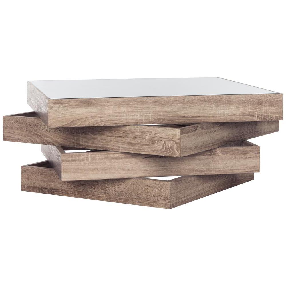 Safavieh Anwen Mid Century Geometric Wood Light Gray Coffee In 2019 Safavieh Anwen Geometric Wood Coffee Tables (View 5 of 20)