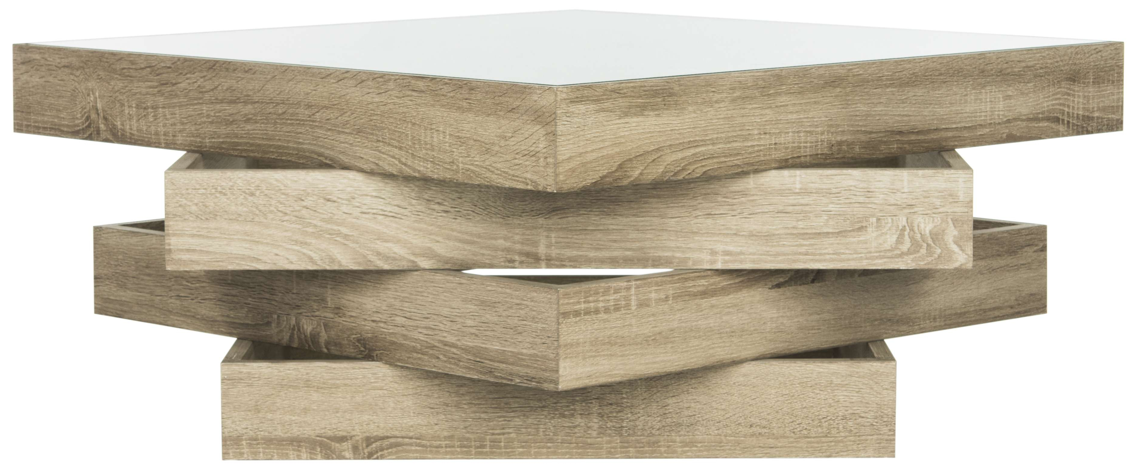 Safavieh Fox4250a For Most Up To Date Safavieh Anwen Geometric Wood Coffee Tables (View 8 of 20)