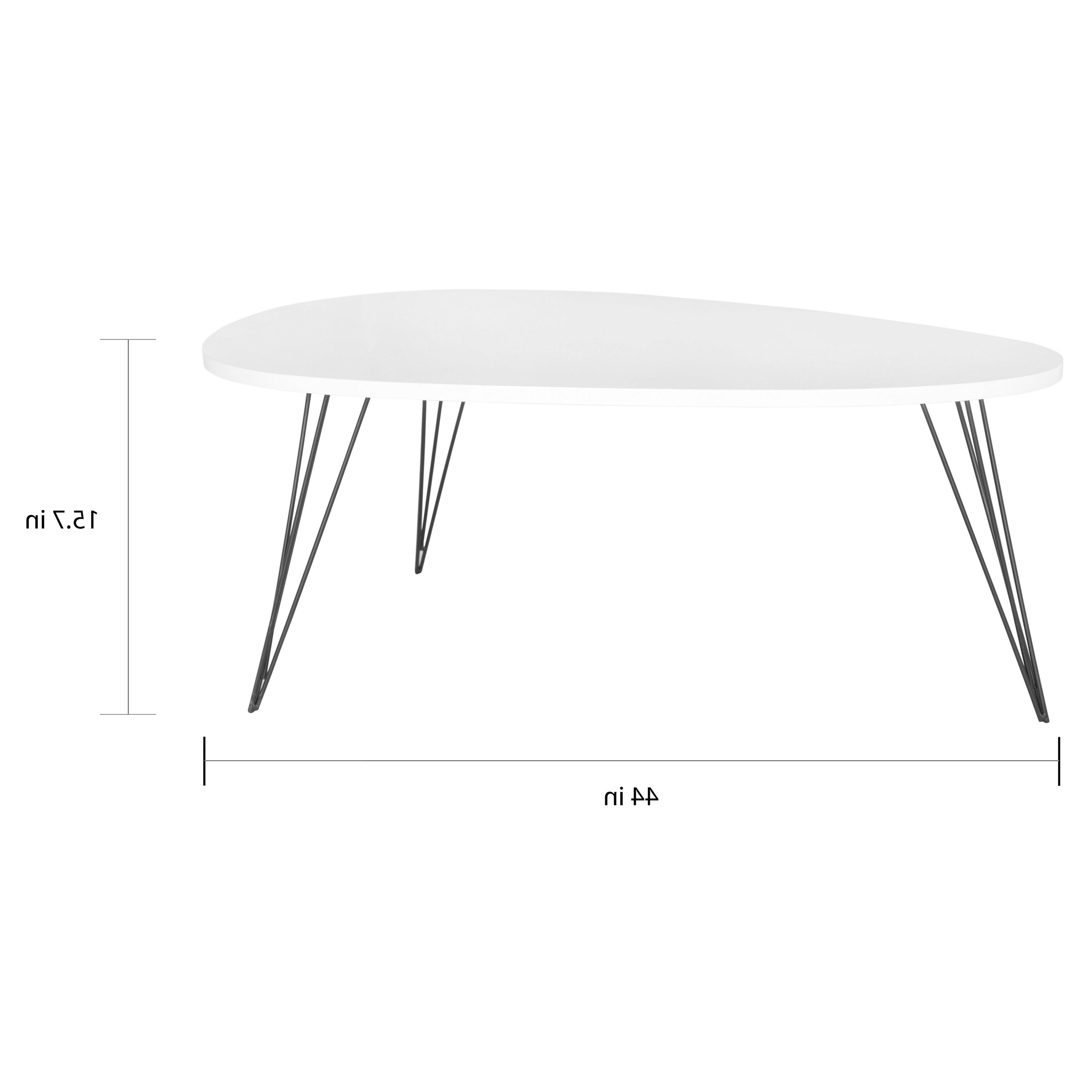 "Safavieh Mid Century Wynton White/ Black Lacquer Modern Coffee Table – 44"" X 31.5"" X (View 3 of 20)"