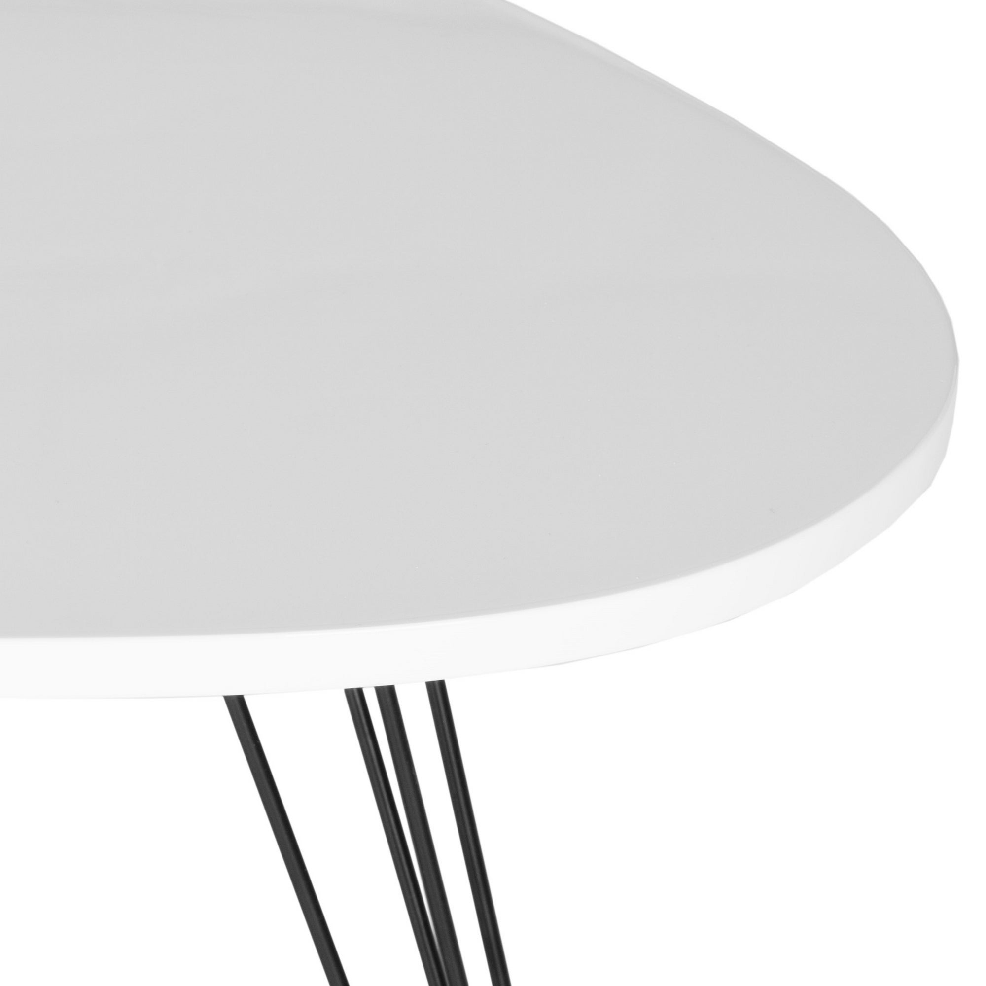 """Safavieh Mid Century Wynton White/ Black Lacquer Modern End Table – 27"""" X 21.3"""" X (View 10 of 20)"""