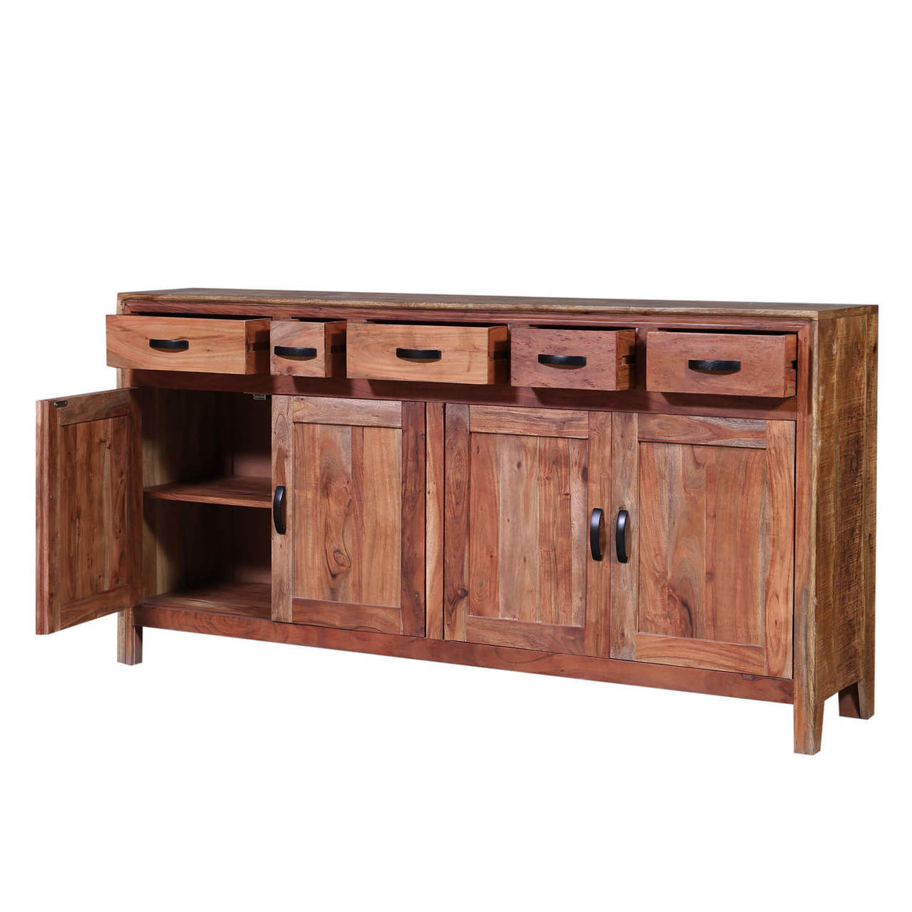 Salvage Wood Rustic Sideboard Buffets Throughout Ames Sideboards (View 13 of 20)