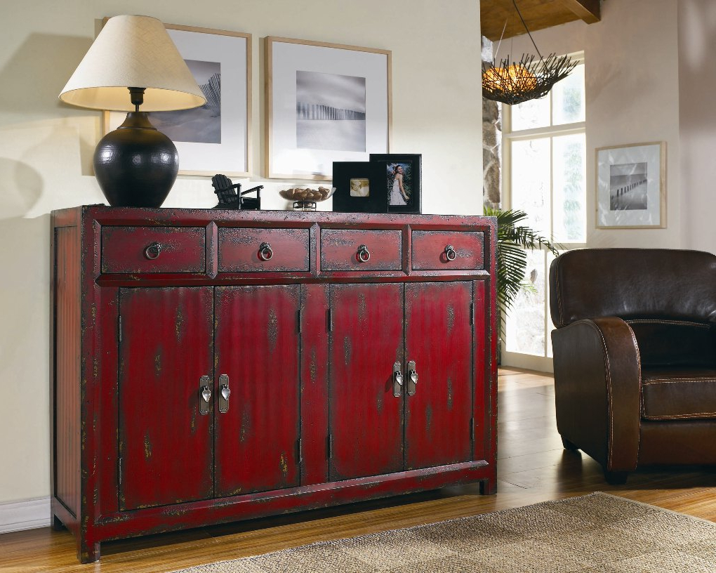 Seven Seas Red Asian Cabinet | Sideboards And Servers Regarding Seven Seas Asian Sideboards (View 2 of 20)