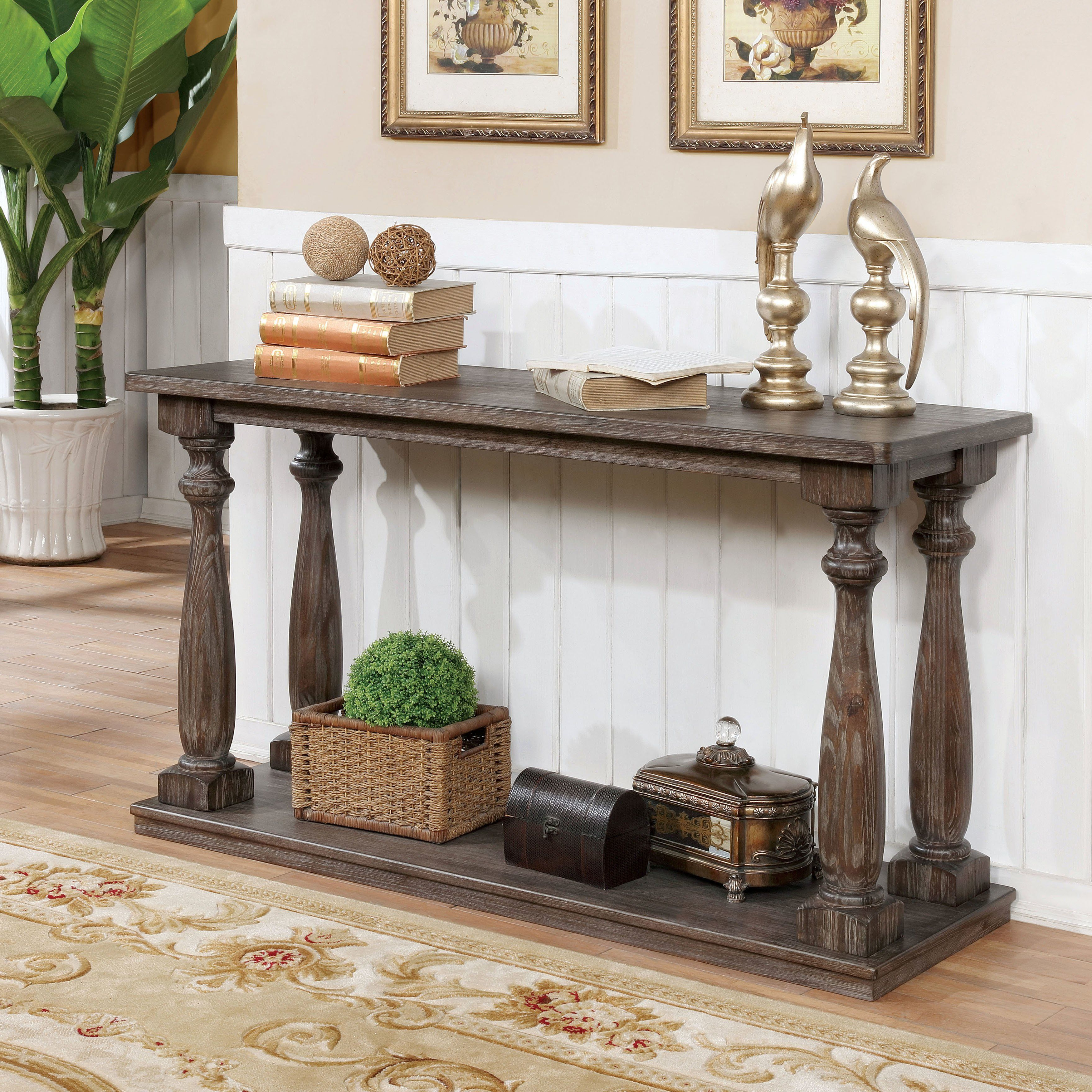 Shop Furniture Of America Jessa Rustic Country Style Open 54 Inside Most Recently Released Jessa Rustic Country 54 Inch Coffee Tables (View 18 of 20)