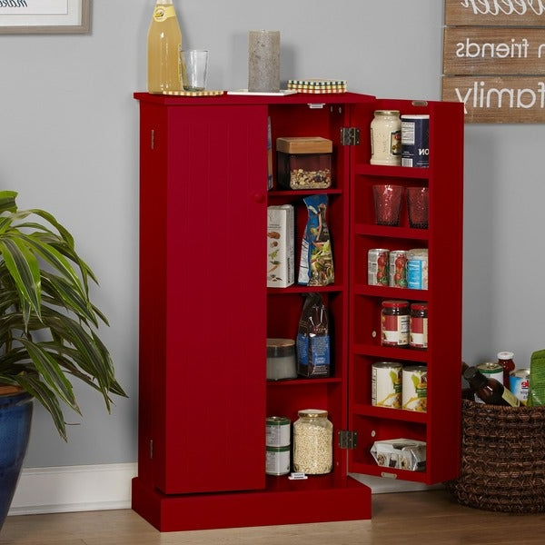 Shop Simple Living Pine Utility Kitchen Pantry – On Sale Inside Trendy Kitchen Pantry By Symple Stuff (View 12 of 20)