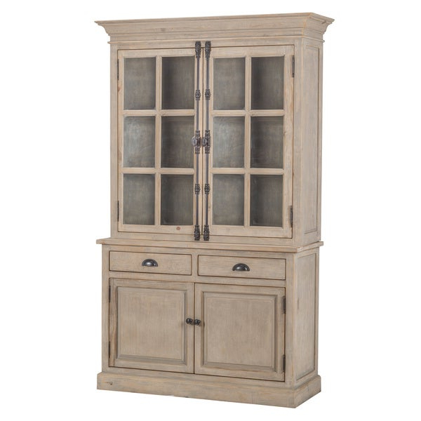 Shop Wilson Reclaimed Wood 53 Inch China Cabinetkosas Regarding Most Current Elliana 4 Door Storage Kitchen Pantry (View 19 of 20)