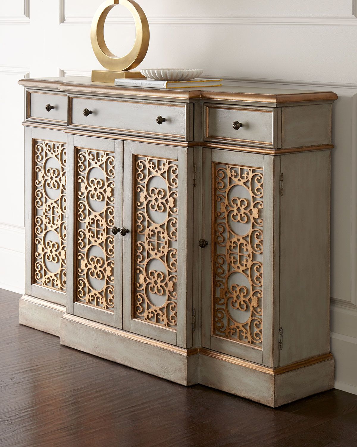 Sideboard Features Intricate Doors Adorned With Scrolled Throughout Stillwater Sideboards (View 8 of 20)