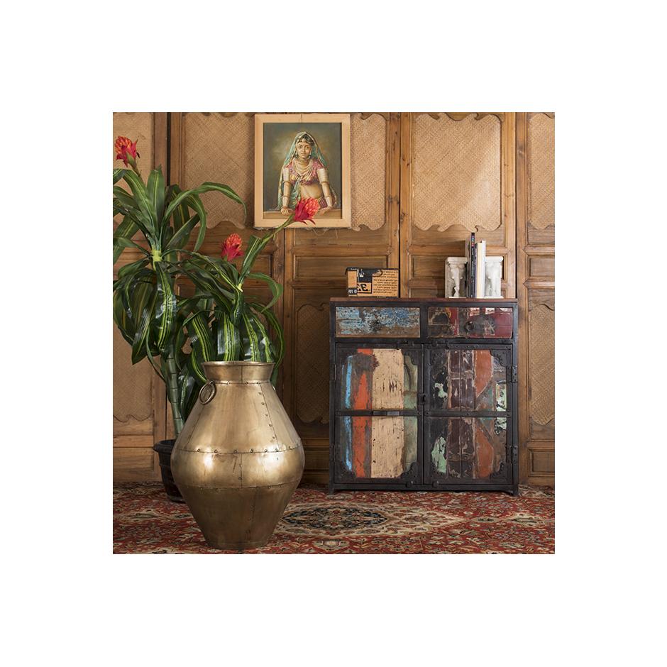 "Sideboard In Recycled Wood ""periya"" Small Inside Abhinav Credenzas (View 9 of 20)"