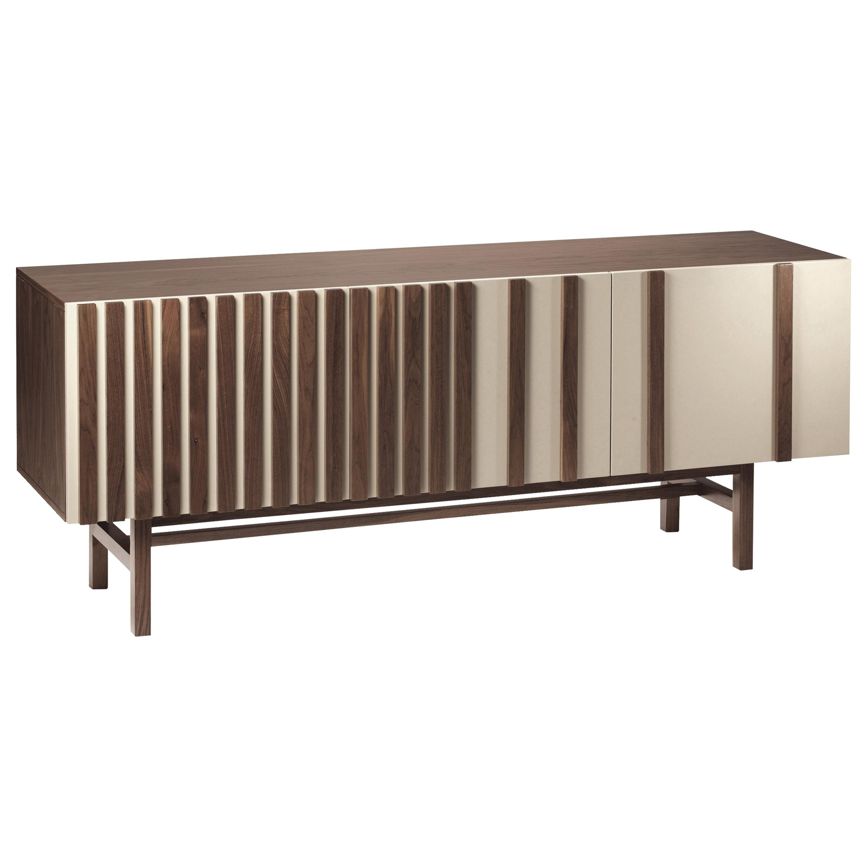 Sideboard Malcolm In Wood, Brass And Marble Intended For Malcom Buffet Table (View 9 of 20)