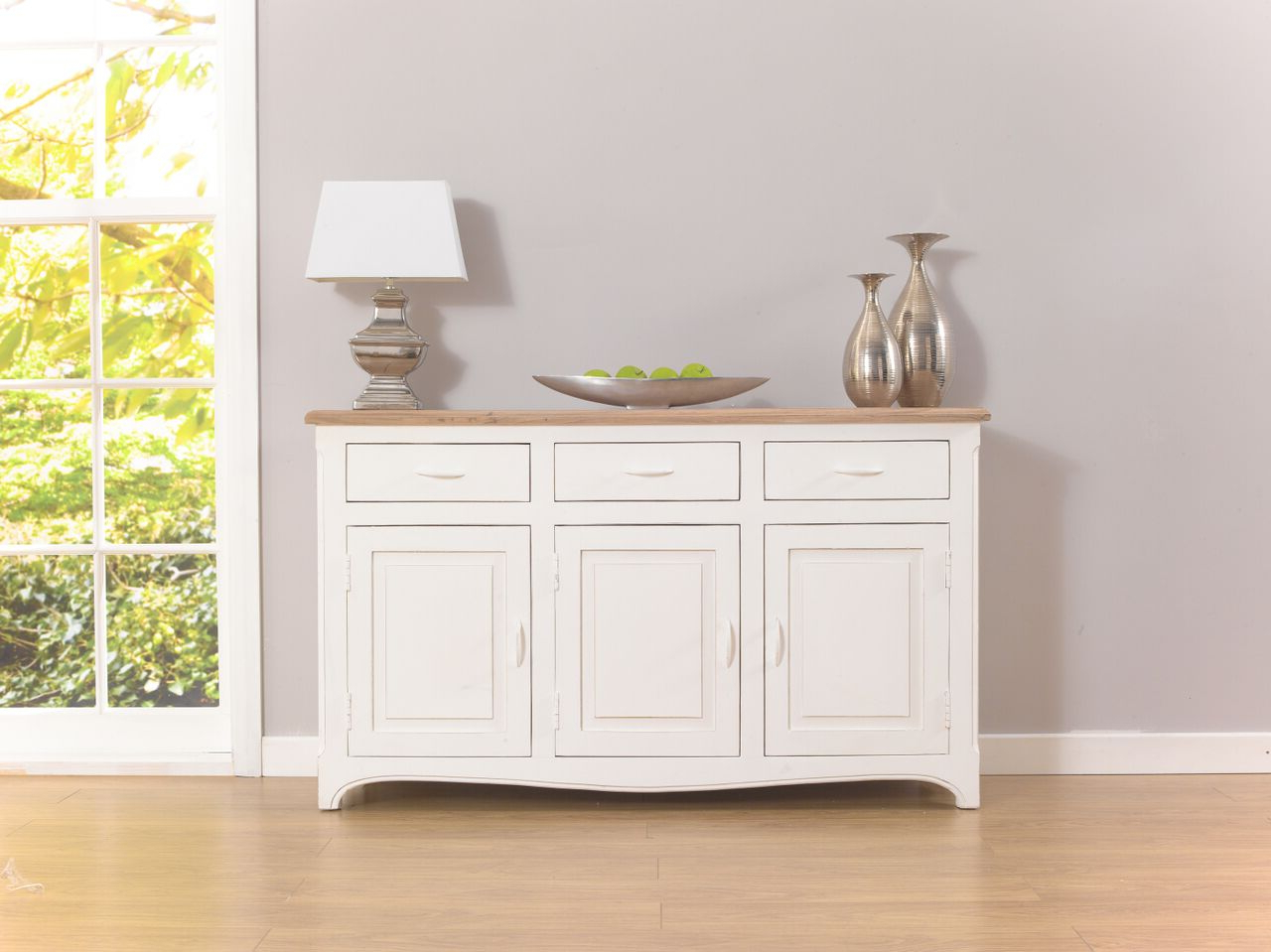Sienna Sideboard Acacia And Painted Ivory Pertaining To Sienna Sideboards (View 6 of 20)