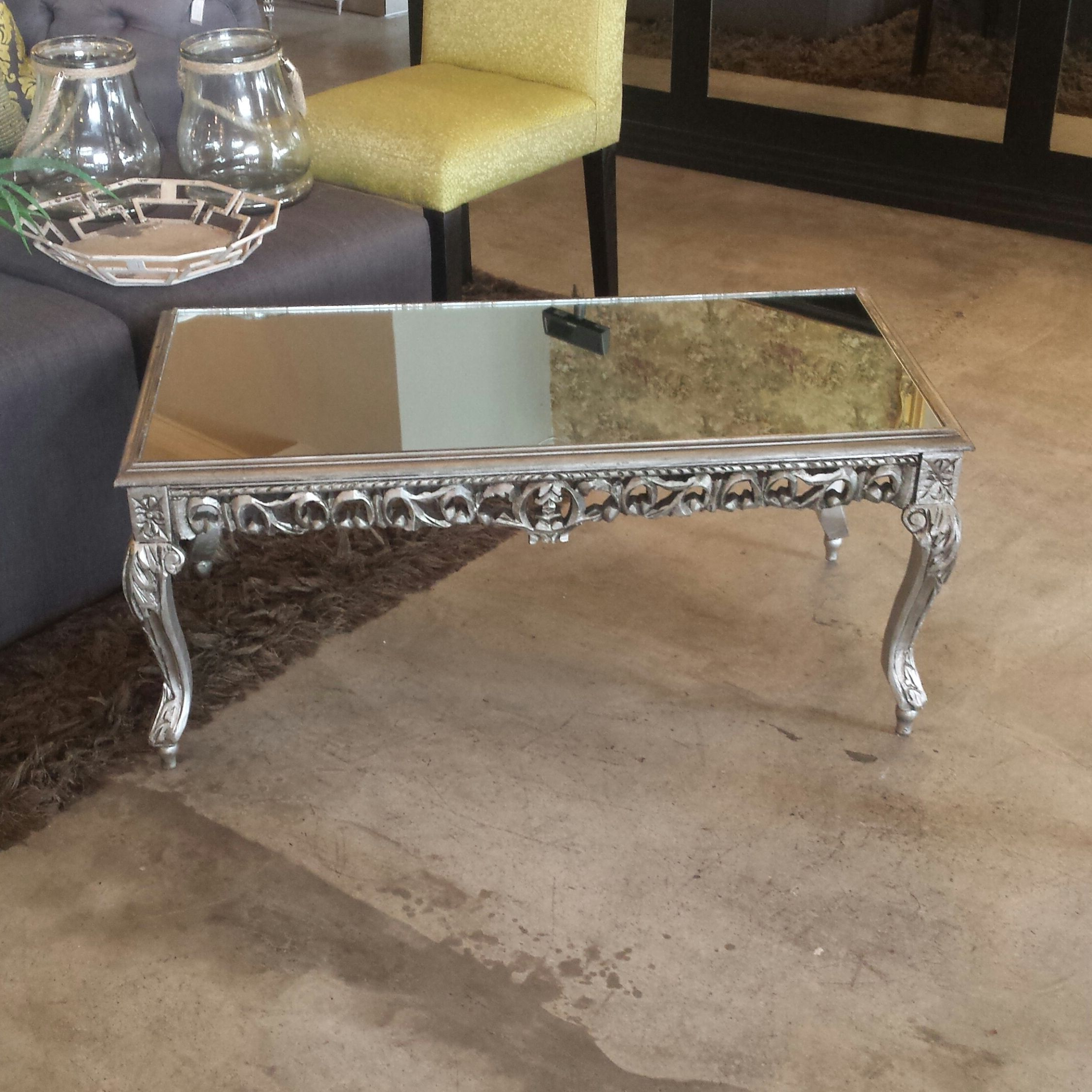 Silver Mirrored Coffee Table (View 19 of 20)