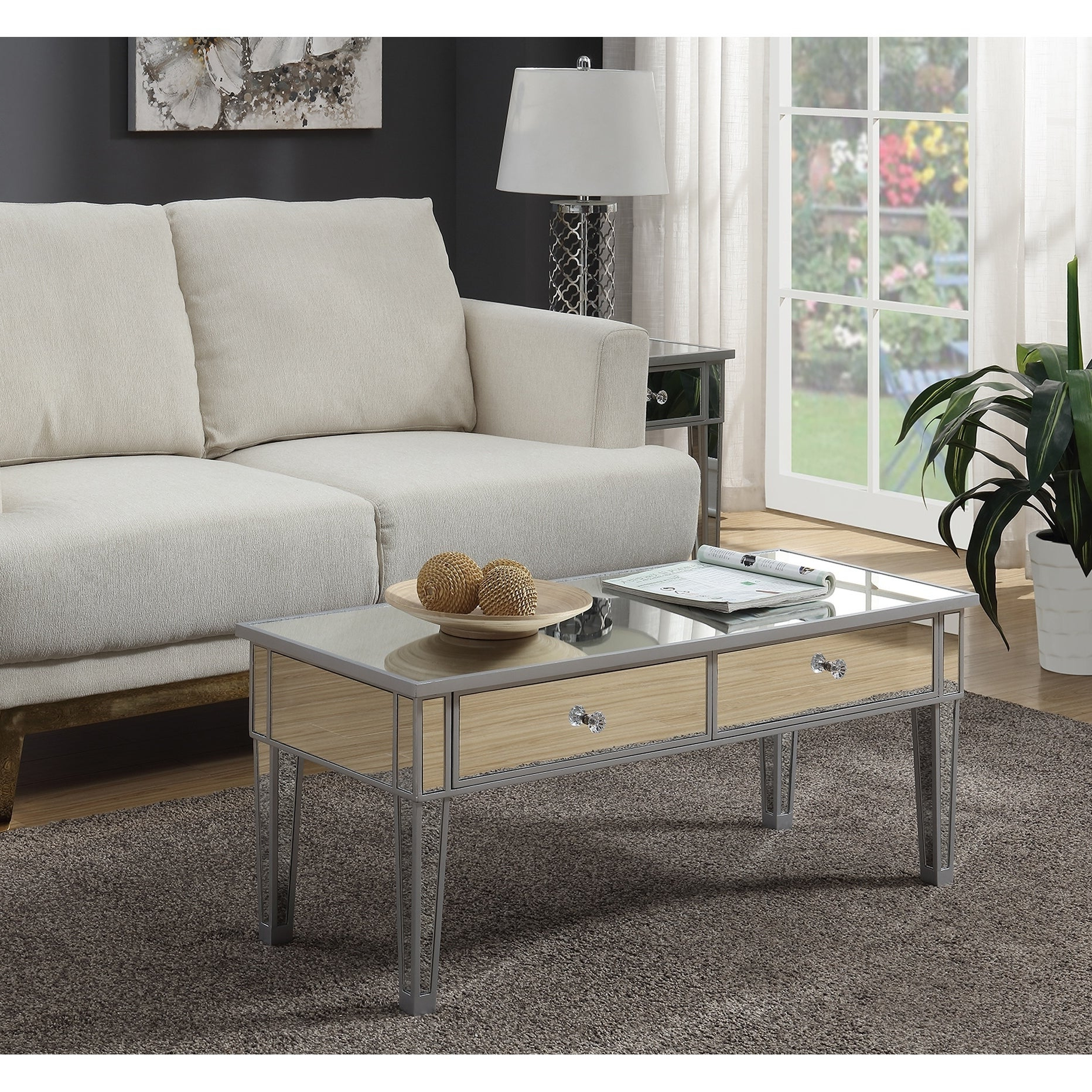 Silver Orchid Bertram Mirrored Coffee Table In 2019 Upton Home Dalton Mirrored Cocktail Tables (View 13 of 20)