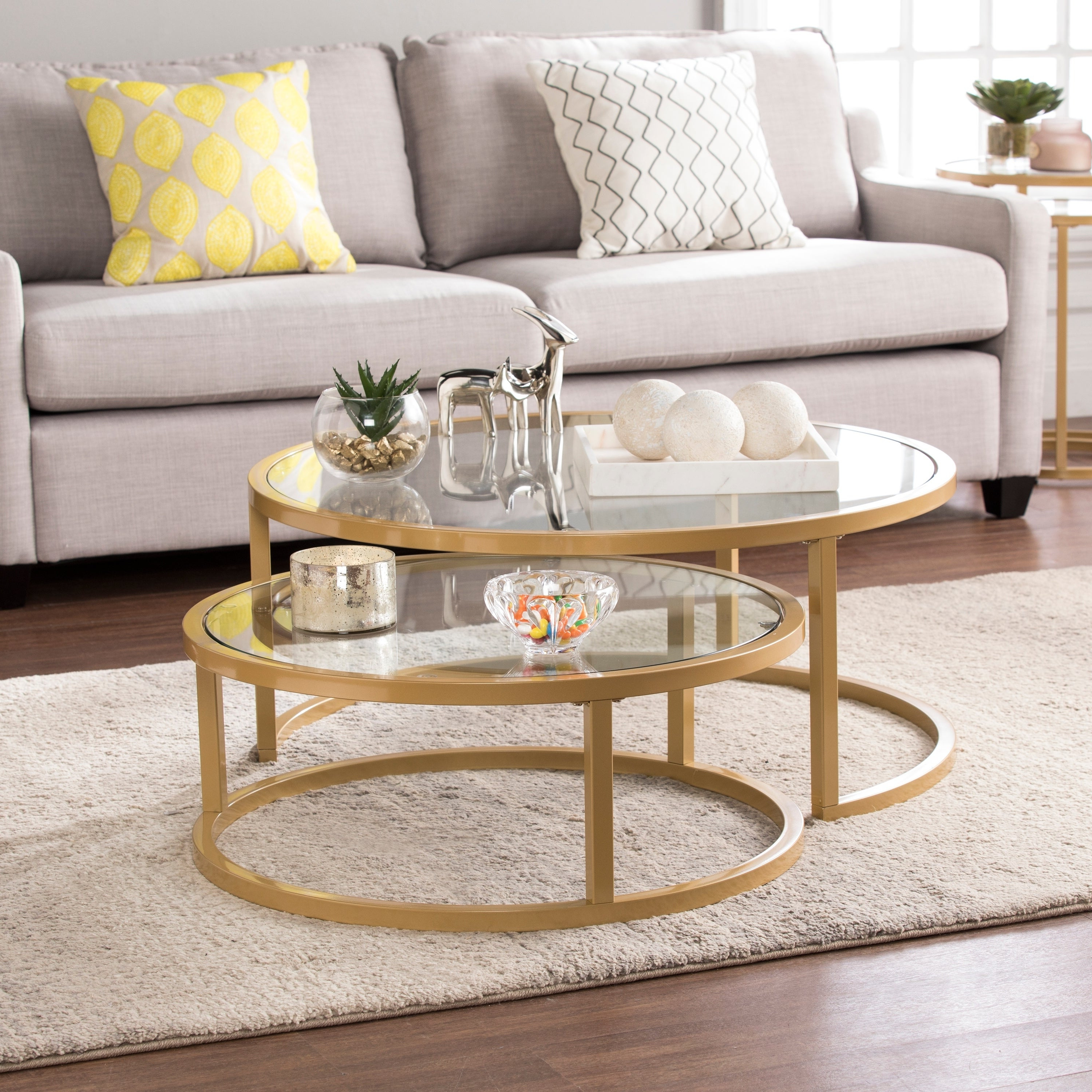 Featured Photo of Silver Orchid Grant Glam Nesting Cocktail Tables