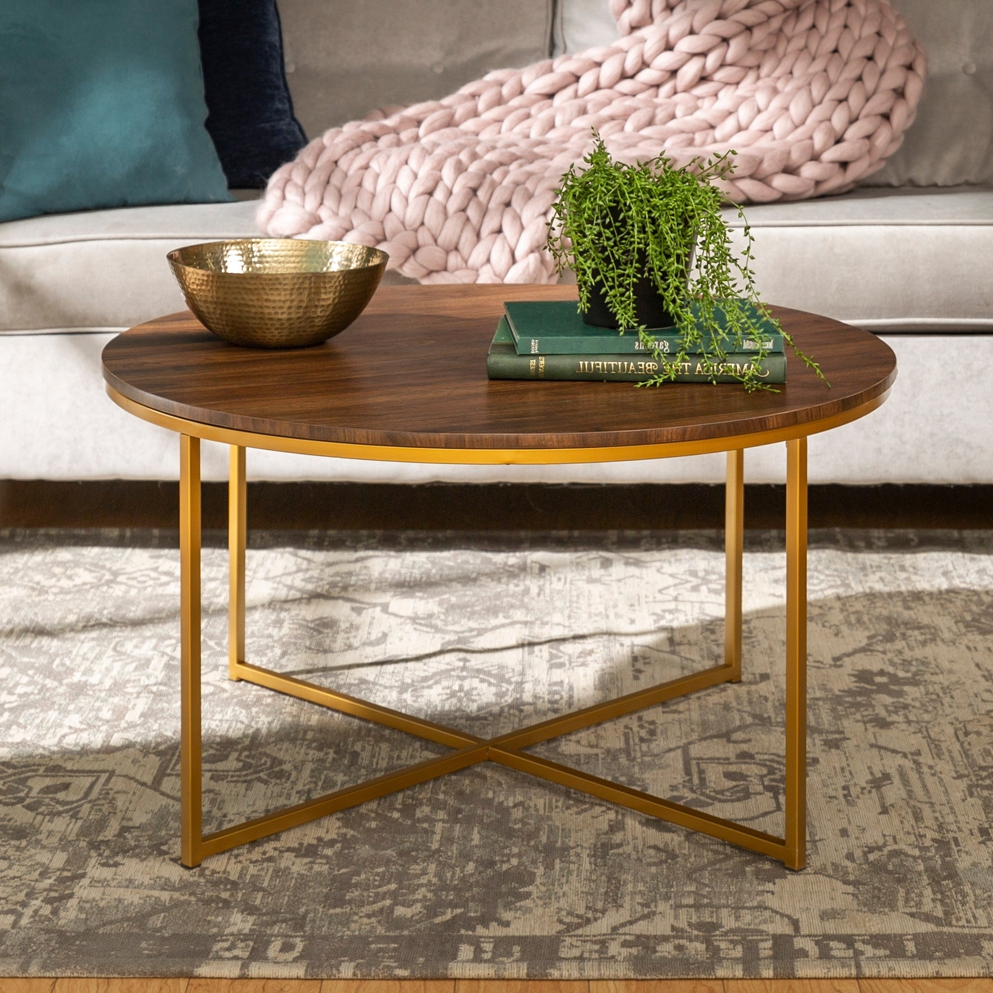Featured Photo of Silver Orchid Ipsen Round Coffee Tables With X Base