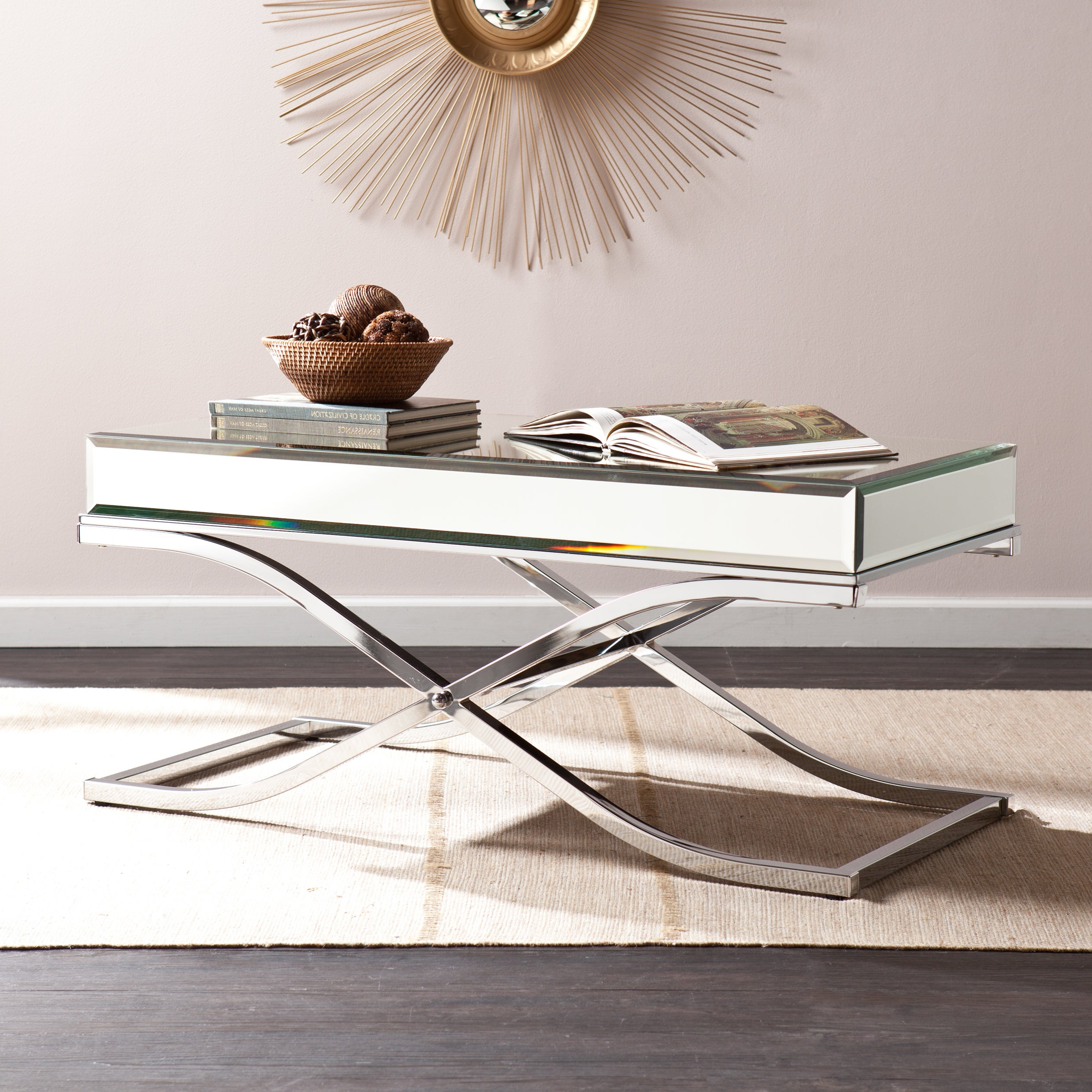 Featured Photo of Silver Orchid Olivia Chrome Mirrored Coffee Cocktail Tables