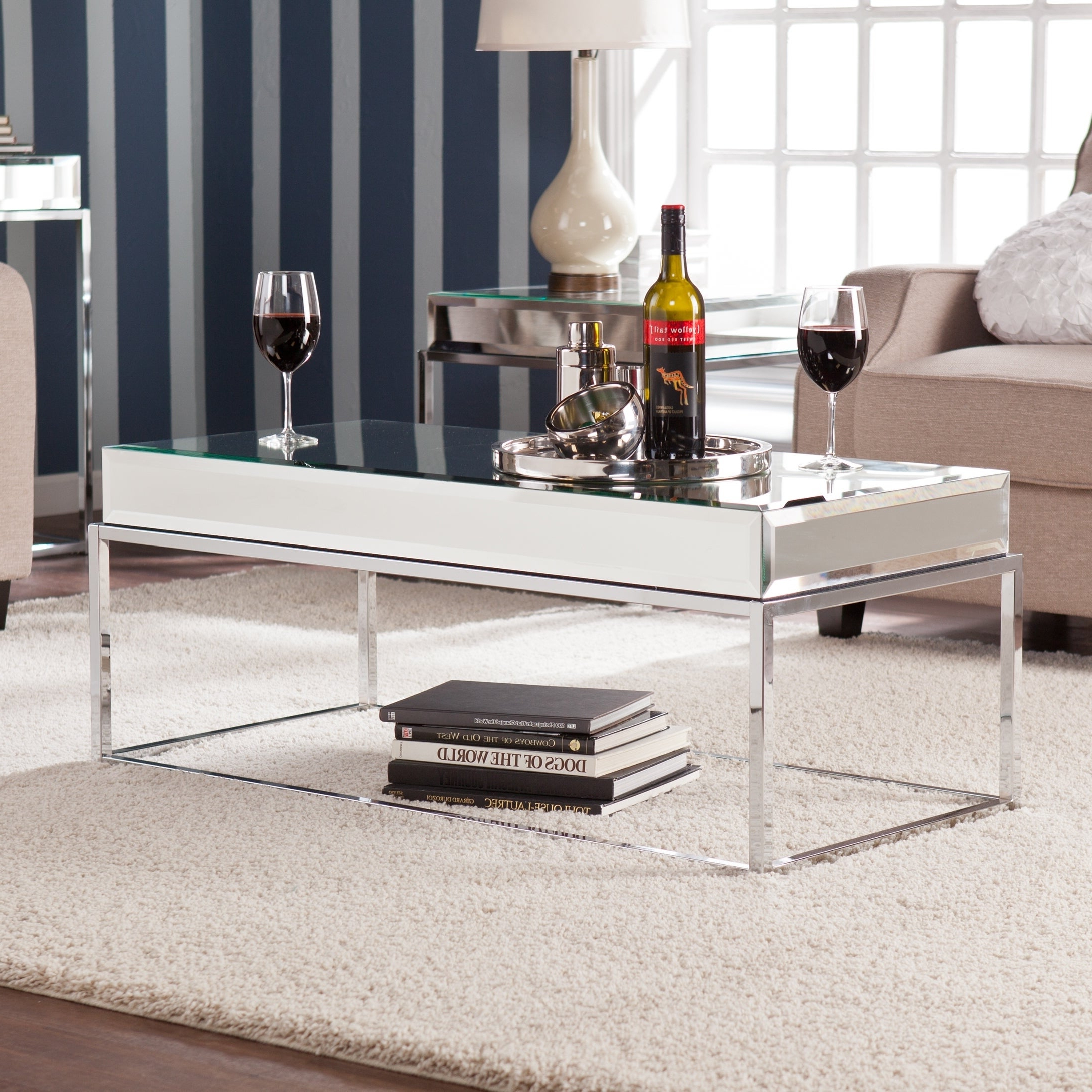 Featured Photo of Silver Orchid Olivia Mirrored Coffee Cocktail Tables
