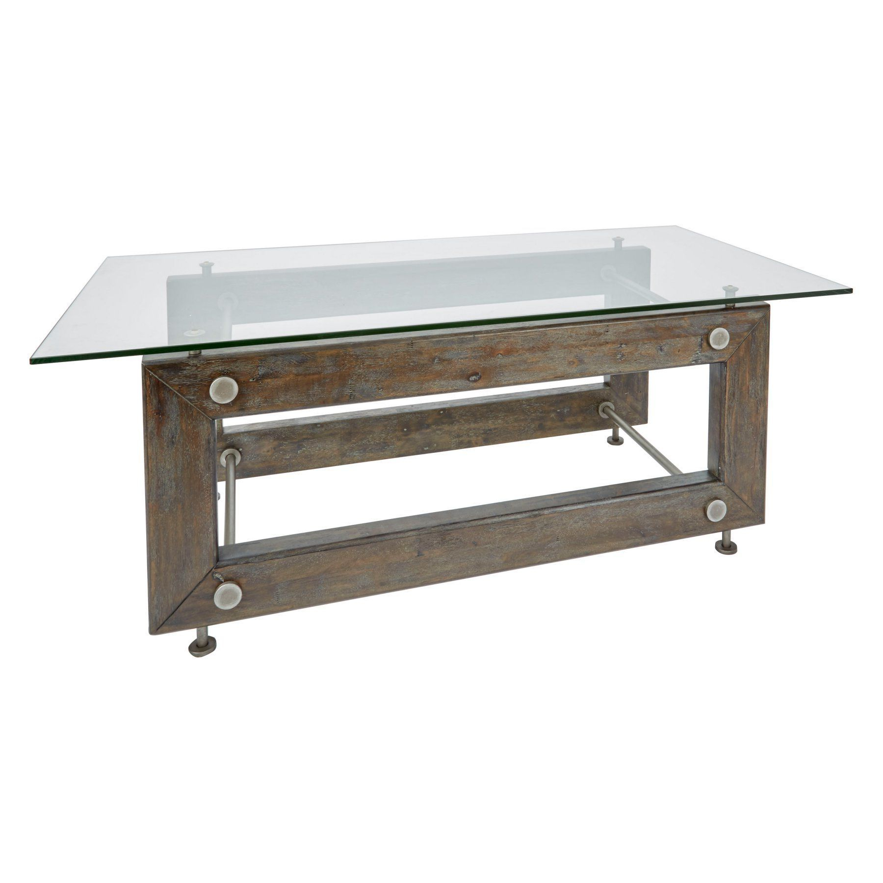 Silverwood Knox Industrial Collection Coffee Table – Ft1158 In Most Recent Carbon Loft Peter Matte Black Slatted Coffee Tables (View 8 of 20)