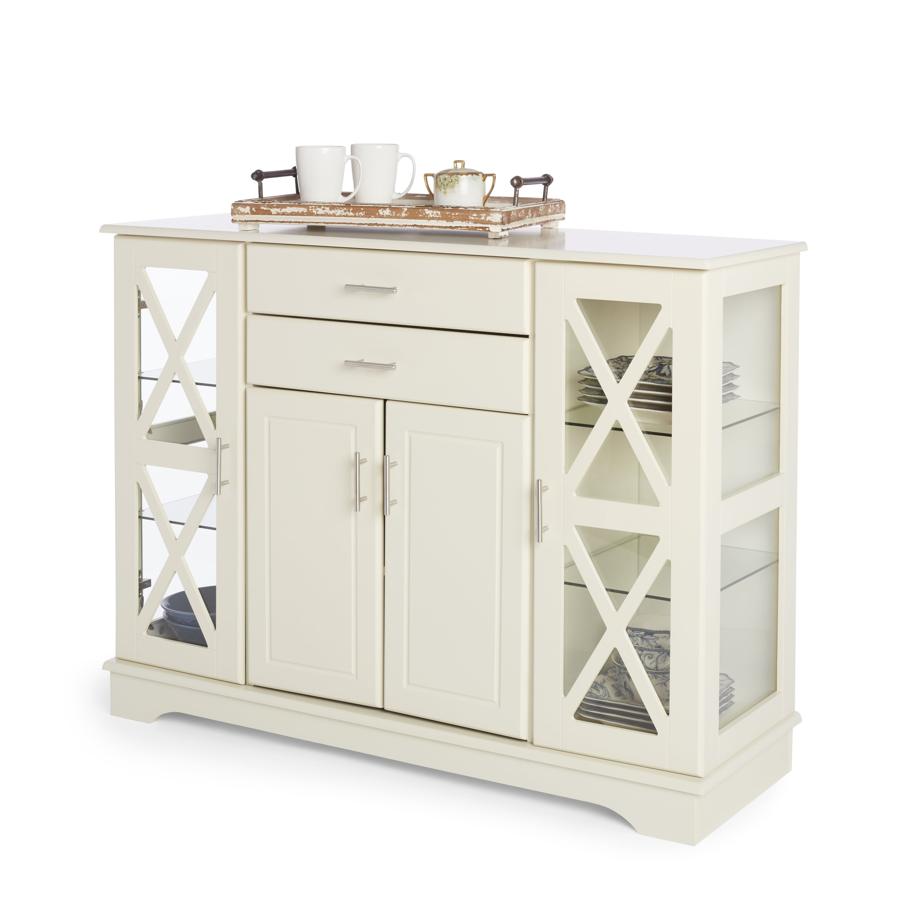 Simple Living Antique White Kendall Buffet With Regard To Kendall Sideboards (View 7 of 20)