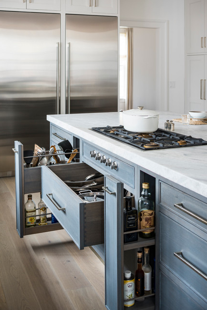 Sleepy Hollow Transitional – Transitional – Kitchen – New Inside Preferred Hollo Kitchen Pantry (View 15 of 20)