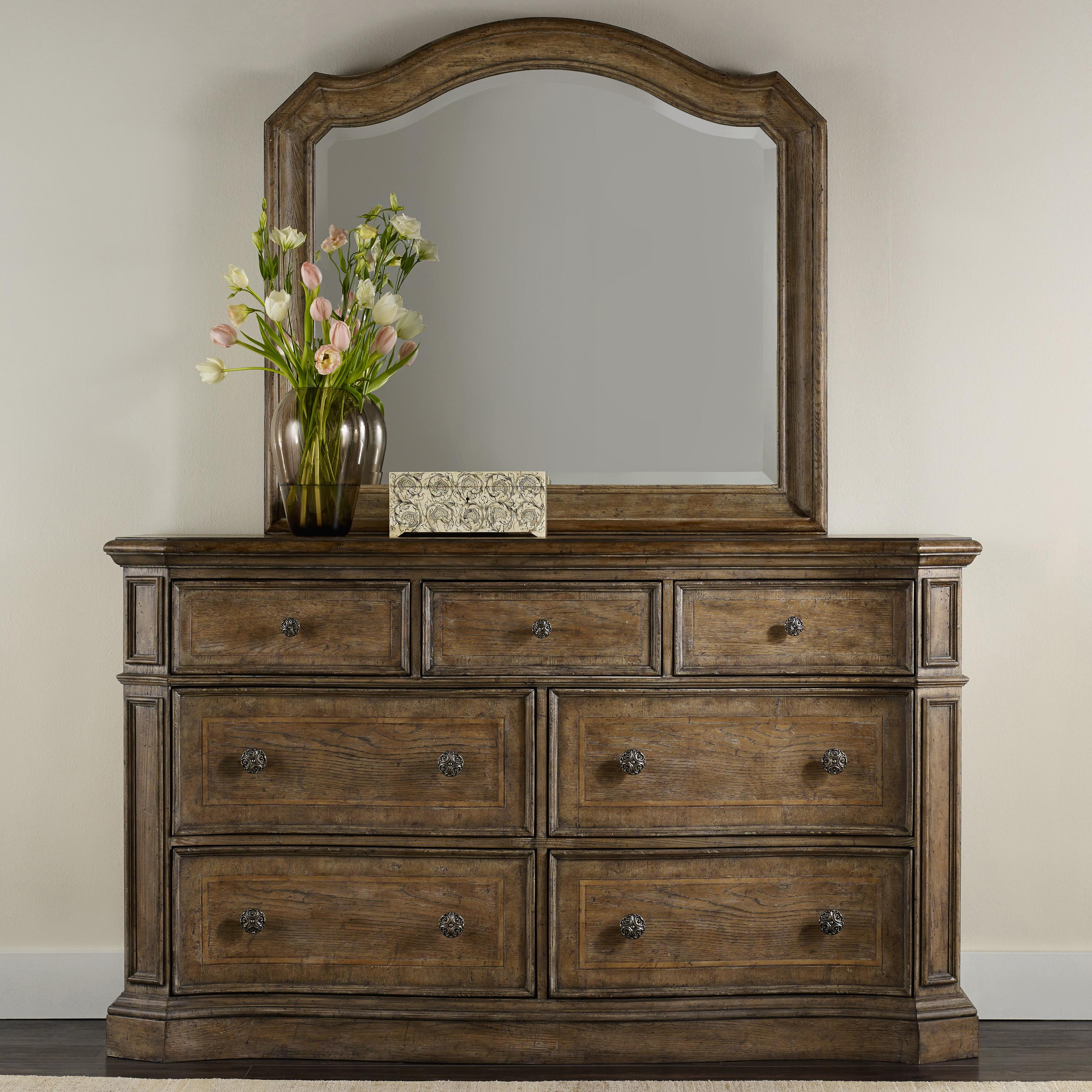 Solana 7 Drawer Dresser And Mirror Set With Serpentine Shapinghamilton Home At Rotmans Throughout Solana Sideboards (View 11 of 20)