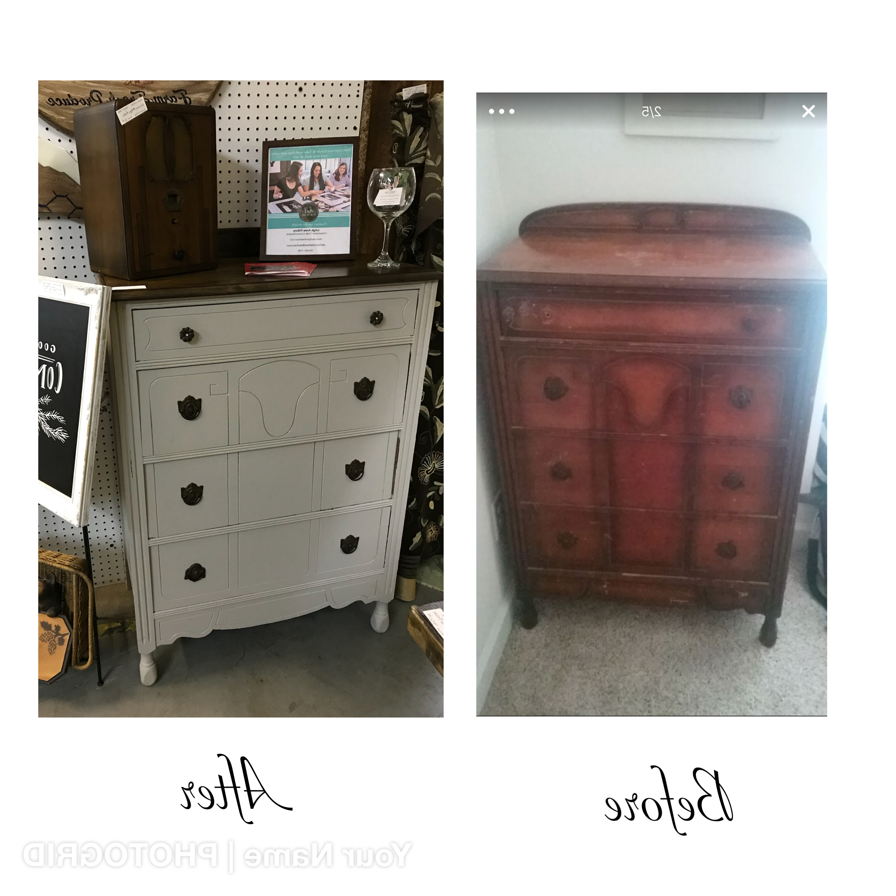 Sold: Dresser Before And After With Filkins Sideboards (View 15 of 20)