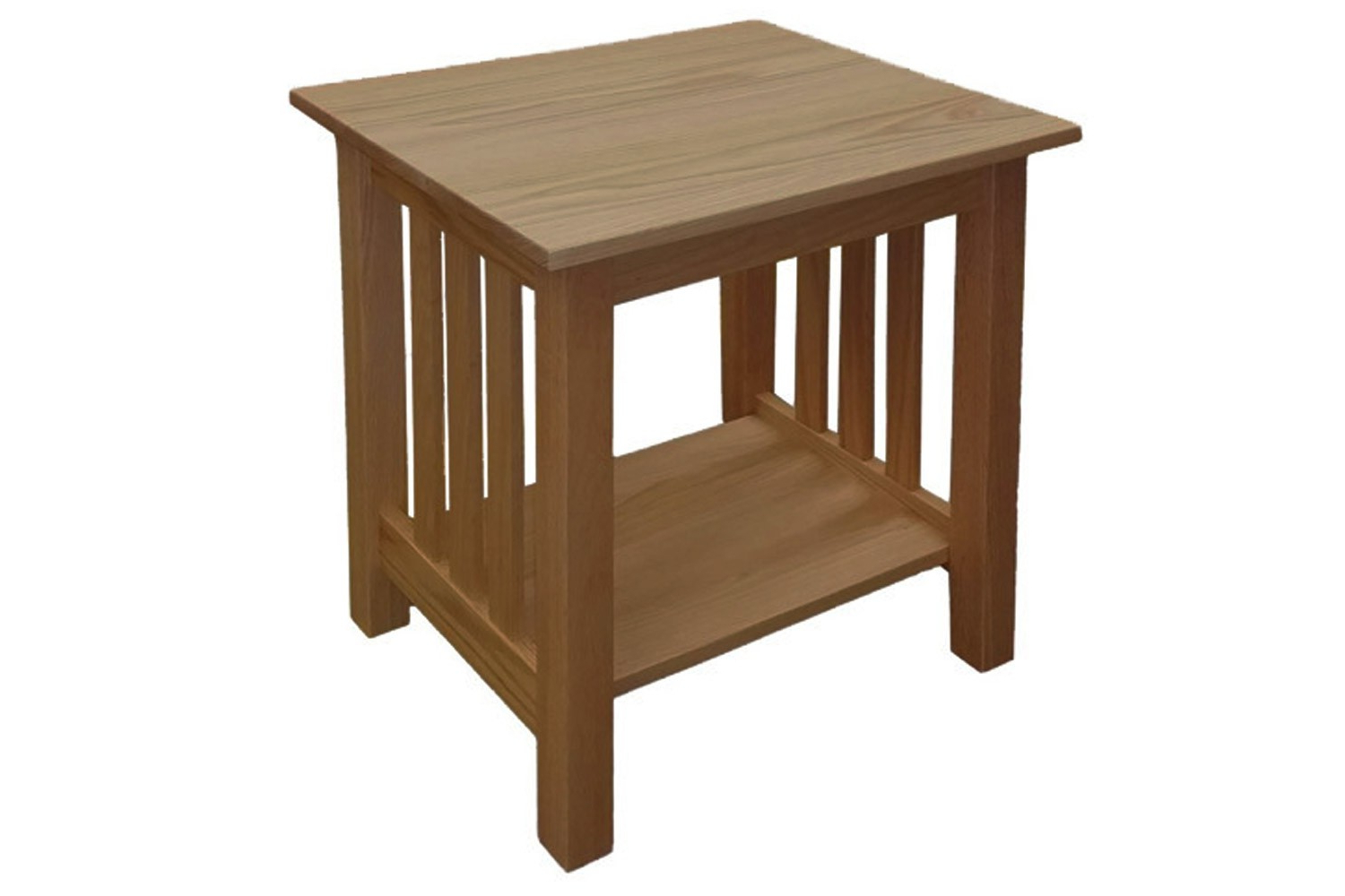 Solid Wood Chemical Free End Table With Regard To Latest Mission Walnut Coffee Tables (View 12 of 20)