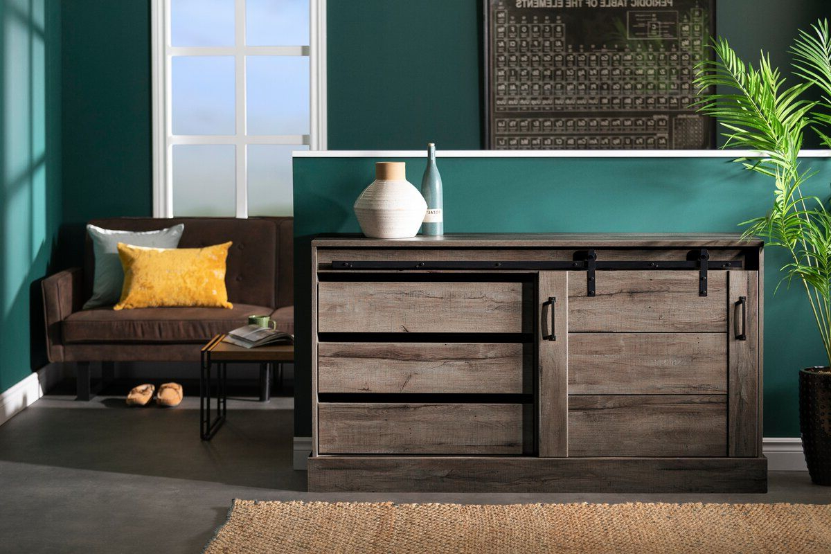 South Shore Harma Buffet Table | Wayfair | New House In 2019 Intended For Lanesboro Sideboards (View 18 of 20)