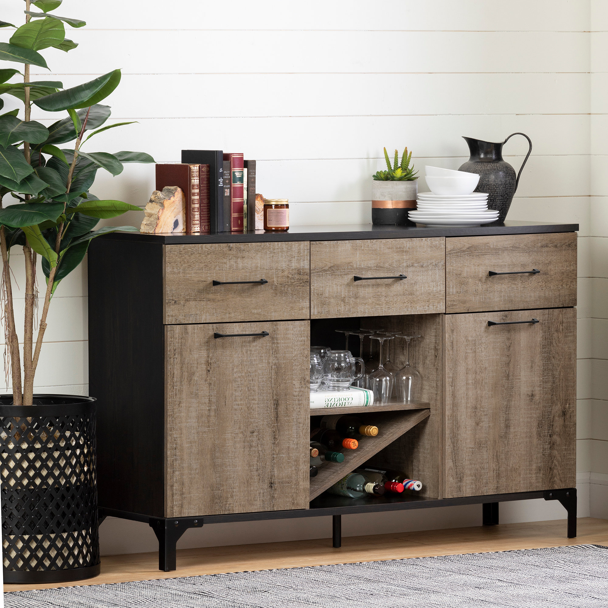South Shore Valet Sideboard & Reviews | Wayfair In Perez Sideboards (View 18 of 20)
