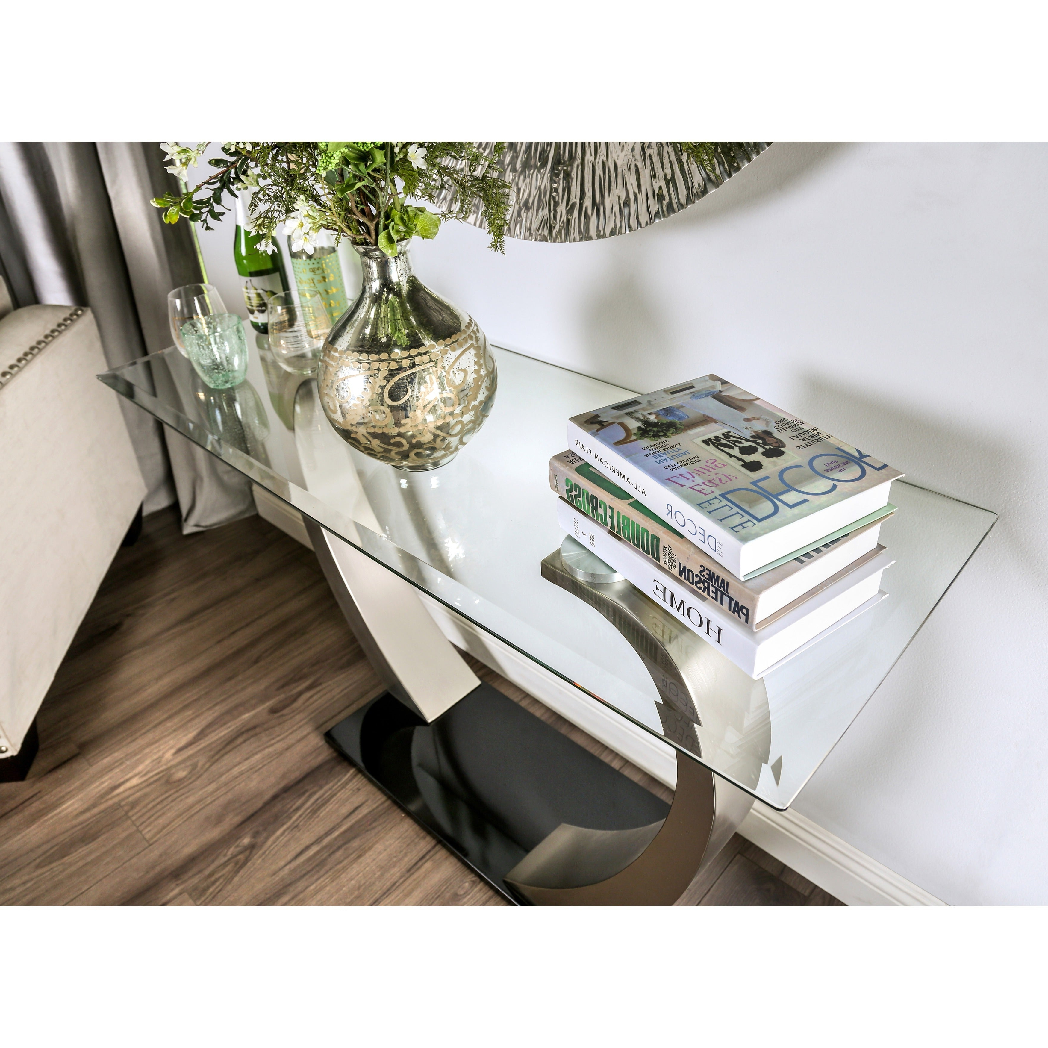 Strick & Bolton Cy Satin Sofa Table With Regard To Current Carmella Satin Plated Coffee Tables (View 15 of 20)