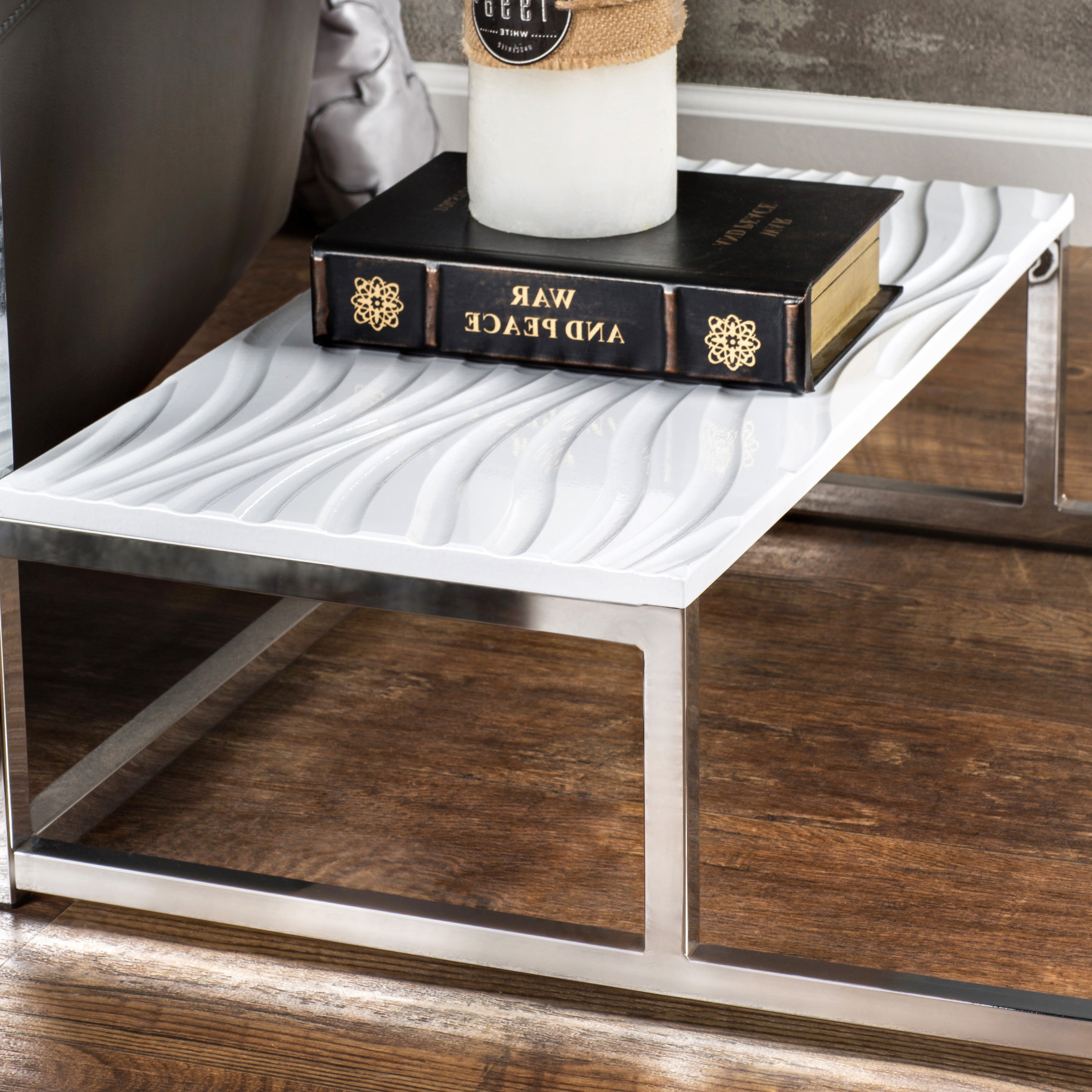 Strick & Bolton Florence Chrome End Table With 2019 Strick & Bolton Florence Chrome Coffee Tables (View 9 of 20)