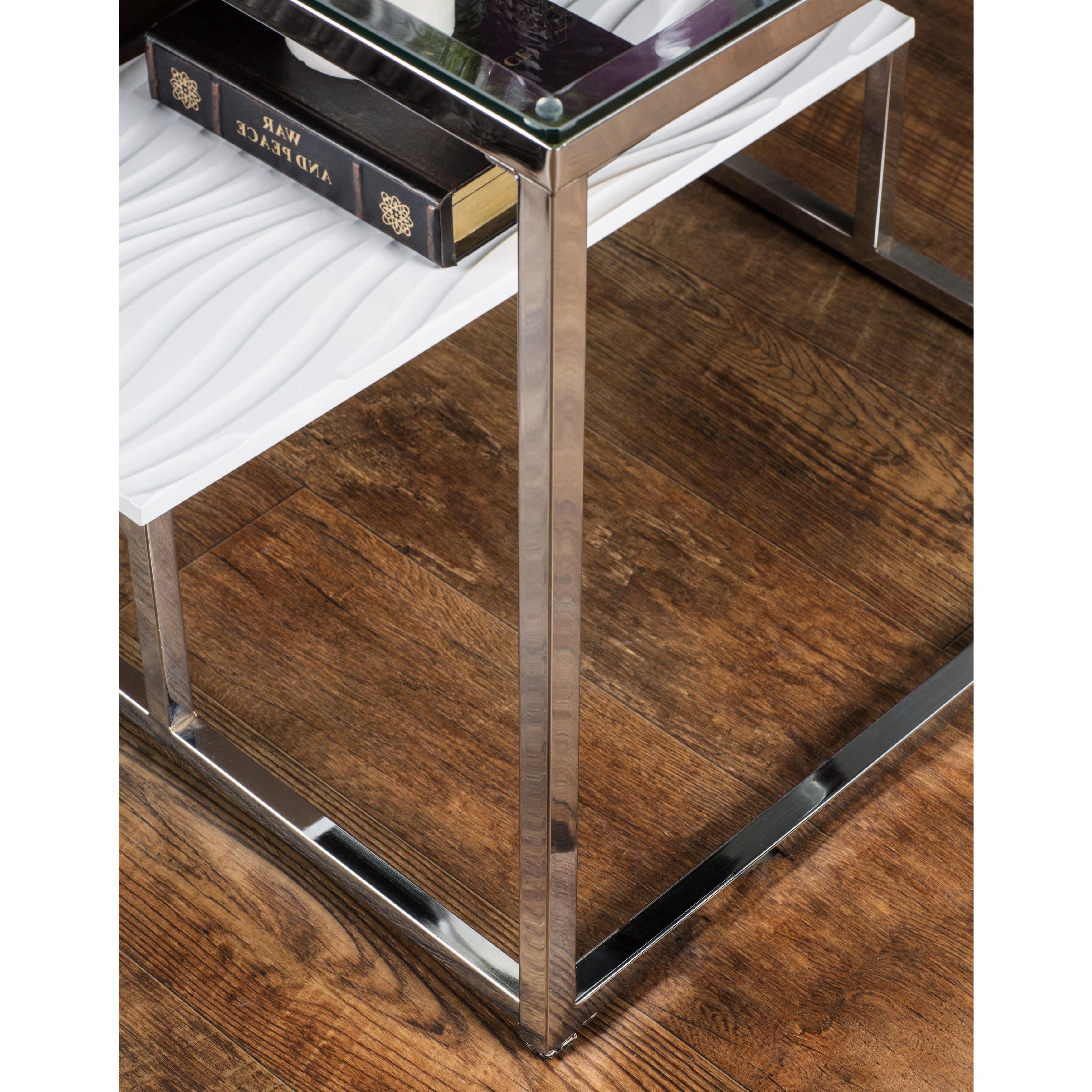 Strick & Bolton Florence Chrome End Table Within Well Known Strick & Bolton Florence Chrome Coffee Tables (View 5 of 20)
