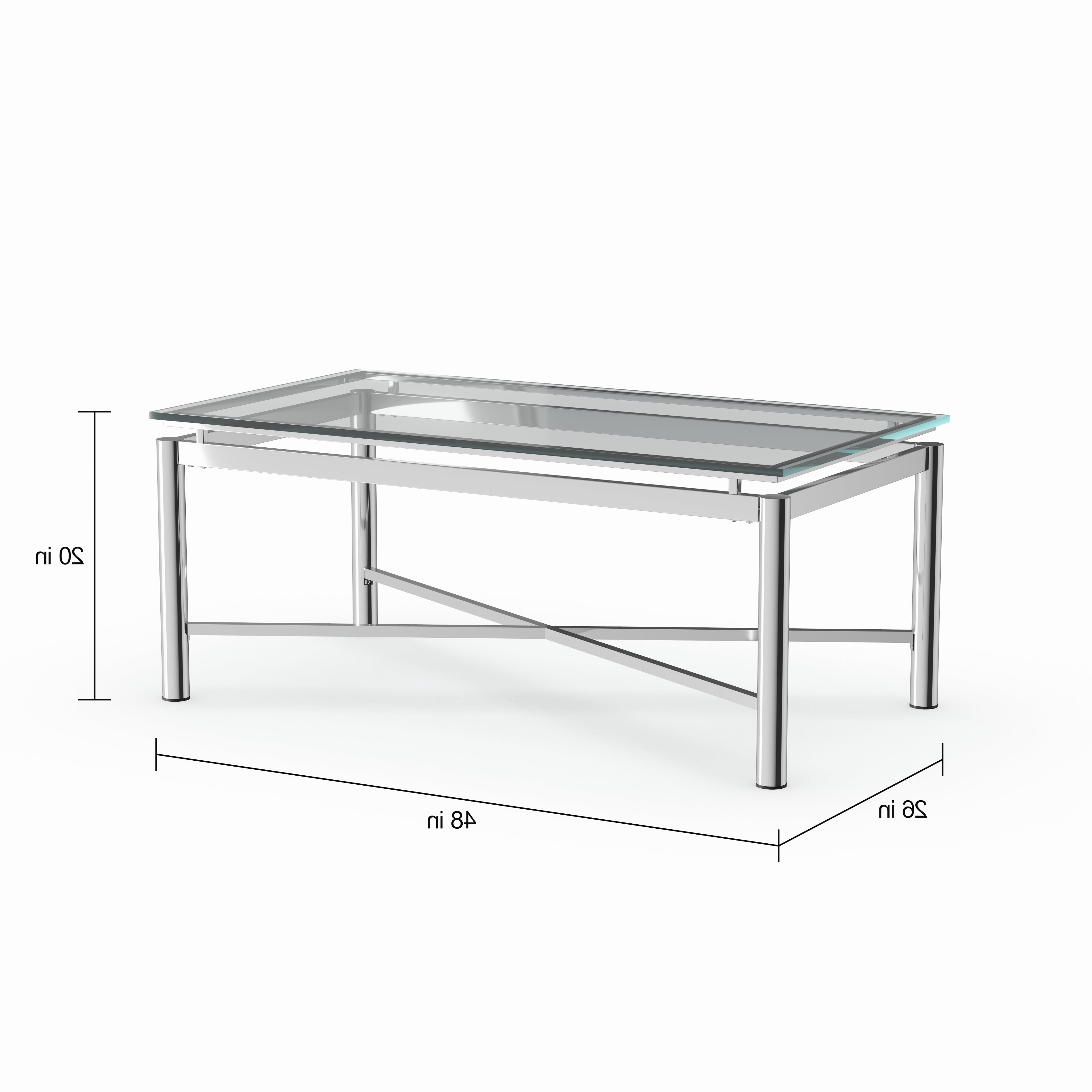 Strick & Bolton Jules Chrome And Glass Coffee Table Throughout Well Known Strick & Bolton Jules Chrome And Glass Coffee Tables (View 2 of 20)
