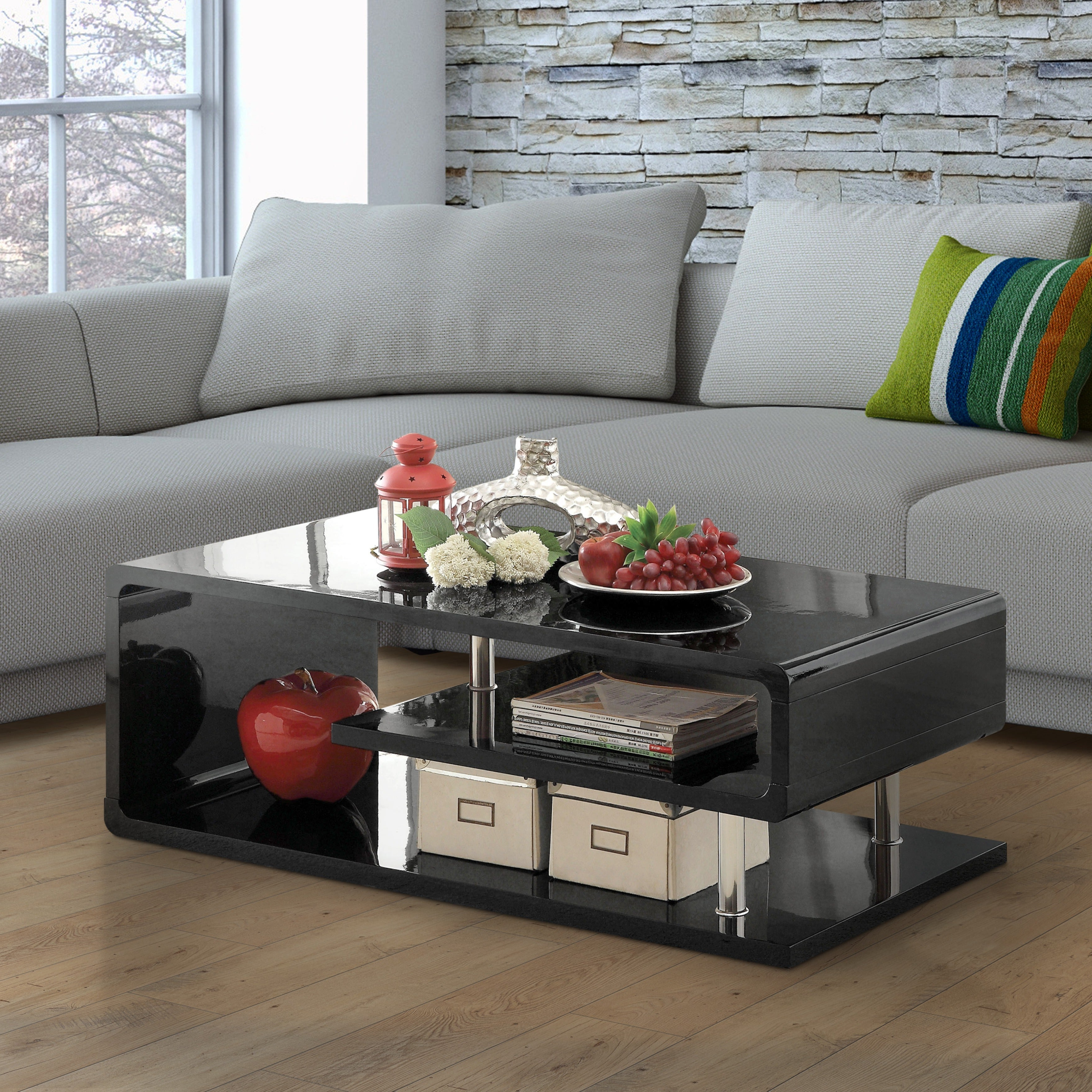 Strick & Bolton Sylvia Geometric High Gloss Coffee Table Regarding Best And Newest Strick & Bolton Sylvia Geometric High Gloss Coffee Tables (View 2 of 20)