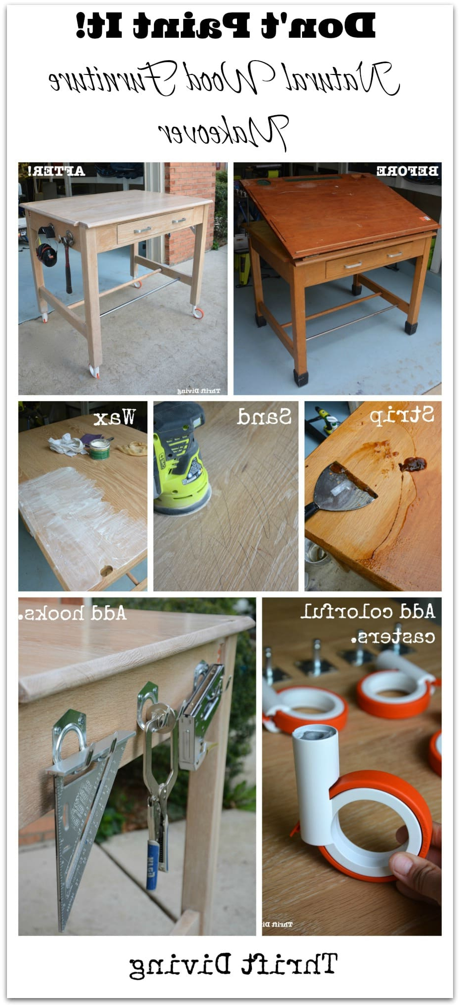 Strip Furniture: How To Create A Natural Wood Furniture Look Intended For Newest Handmade Whitewashed Stripped Wood Tables (View 13 of 20)