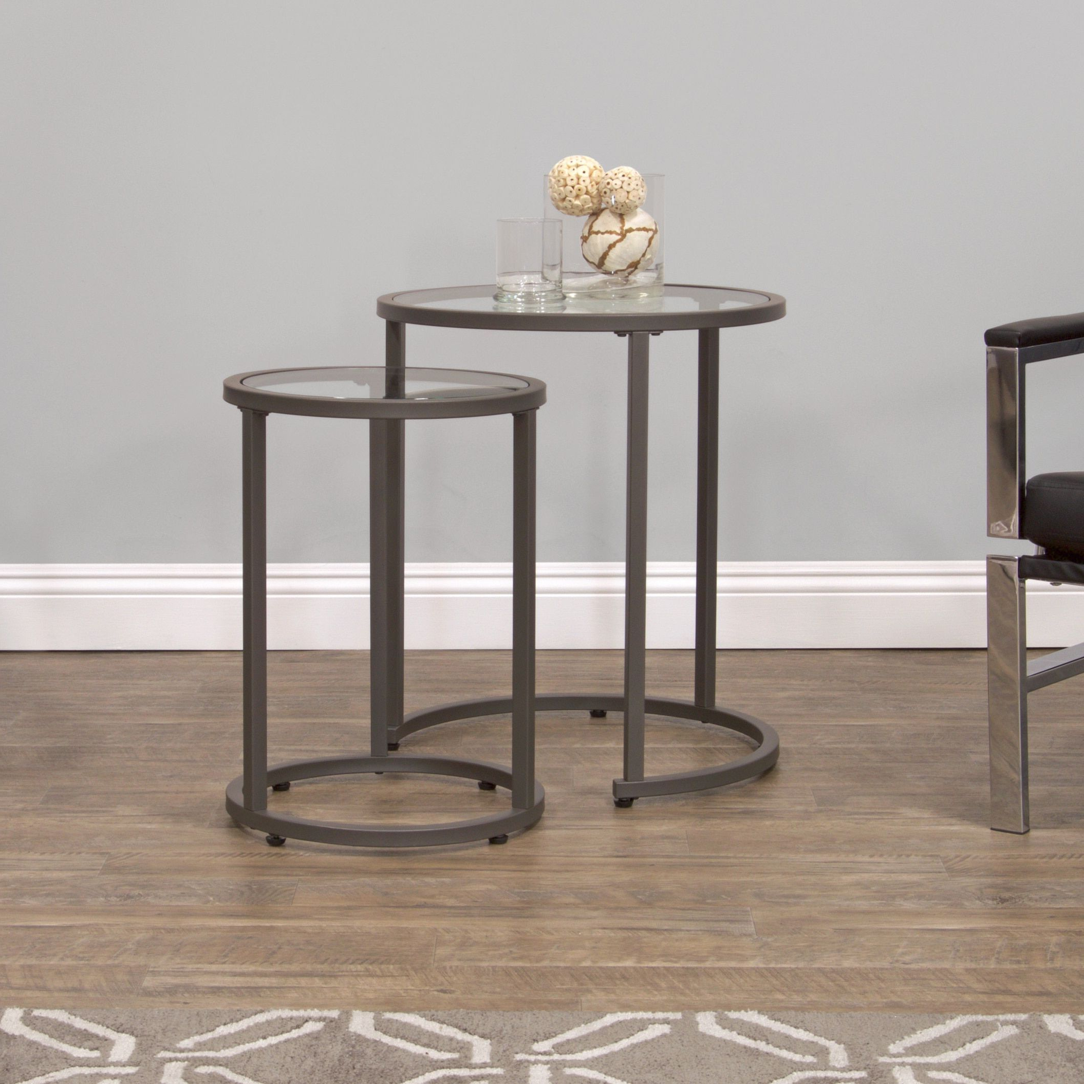 Studio Designs Clay Alder Home Blair Nesting Tables (Camber With Regard To Most Recent Carbon Loft Heimlich Pewter Steel/glass Round Coffee Tables (View 17 of 20)