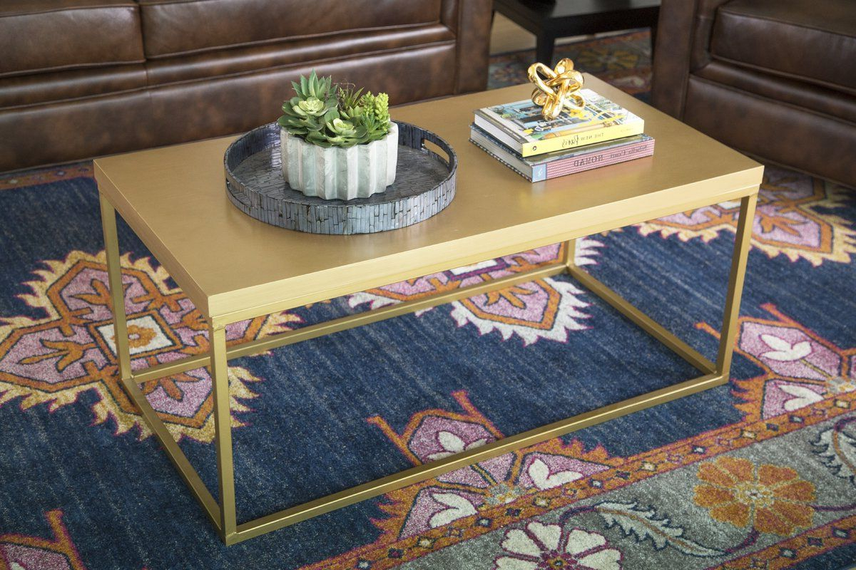 Table Furniture Pertaining To Newest The Curated Nomad Quatrefoil Goldtone Metal And Glass Coffee Tables (View 10 of 20)