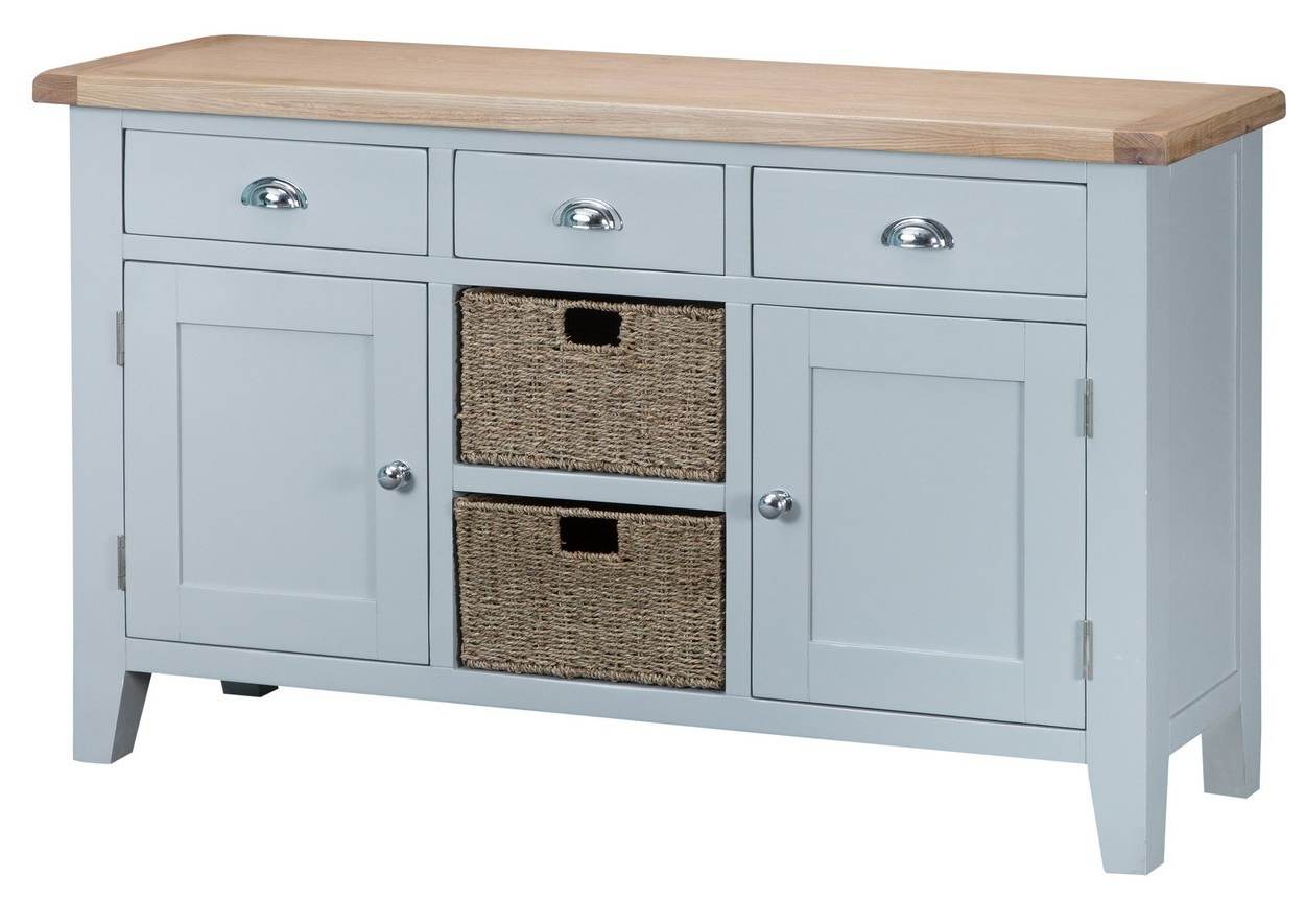 Taunton Grey Large Sideboard – Sideboards & Tops – Dining Regarding Norton Sideboards (View 13 of 20)
