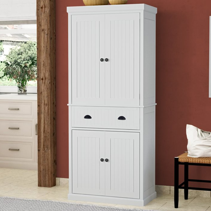 """Teegarden Kitchen Pantry With Regard To Most Current Stahl 72"""" Kitchen Pantry (View 16 of 20)"""