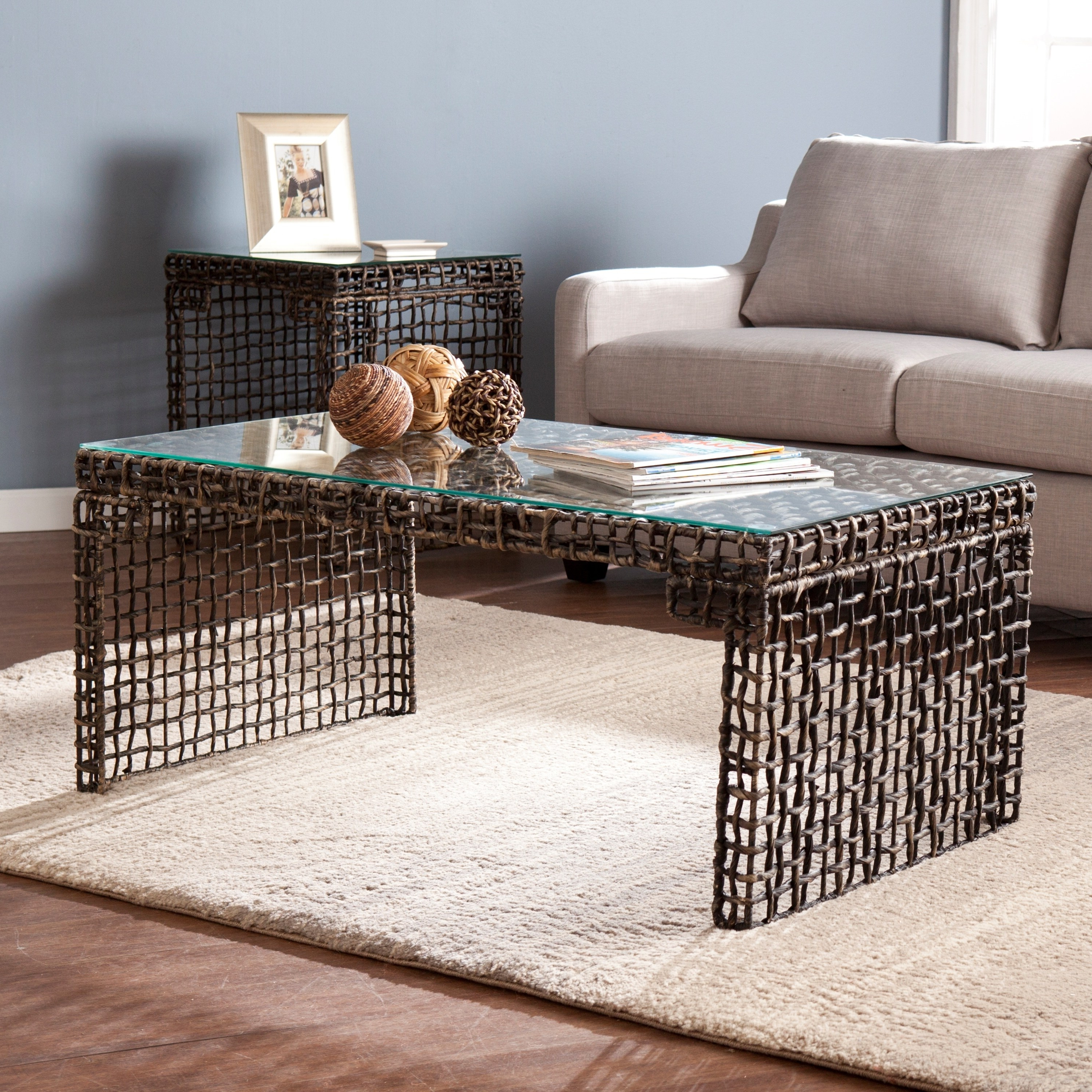 The Curated Nomad Belize Woven Cocktail Table – Walmart Regarding Well Known The Curated Nomad Belize Woven Cocktail Tables (View 14 of 20)