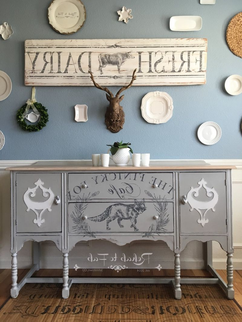 "The Finicky Fox"" Chalk Style Paint Buffet 