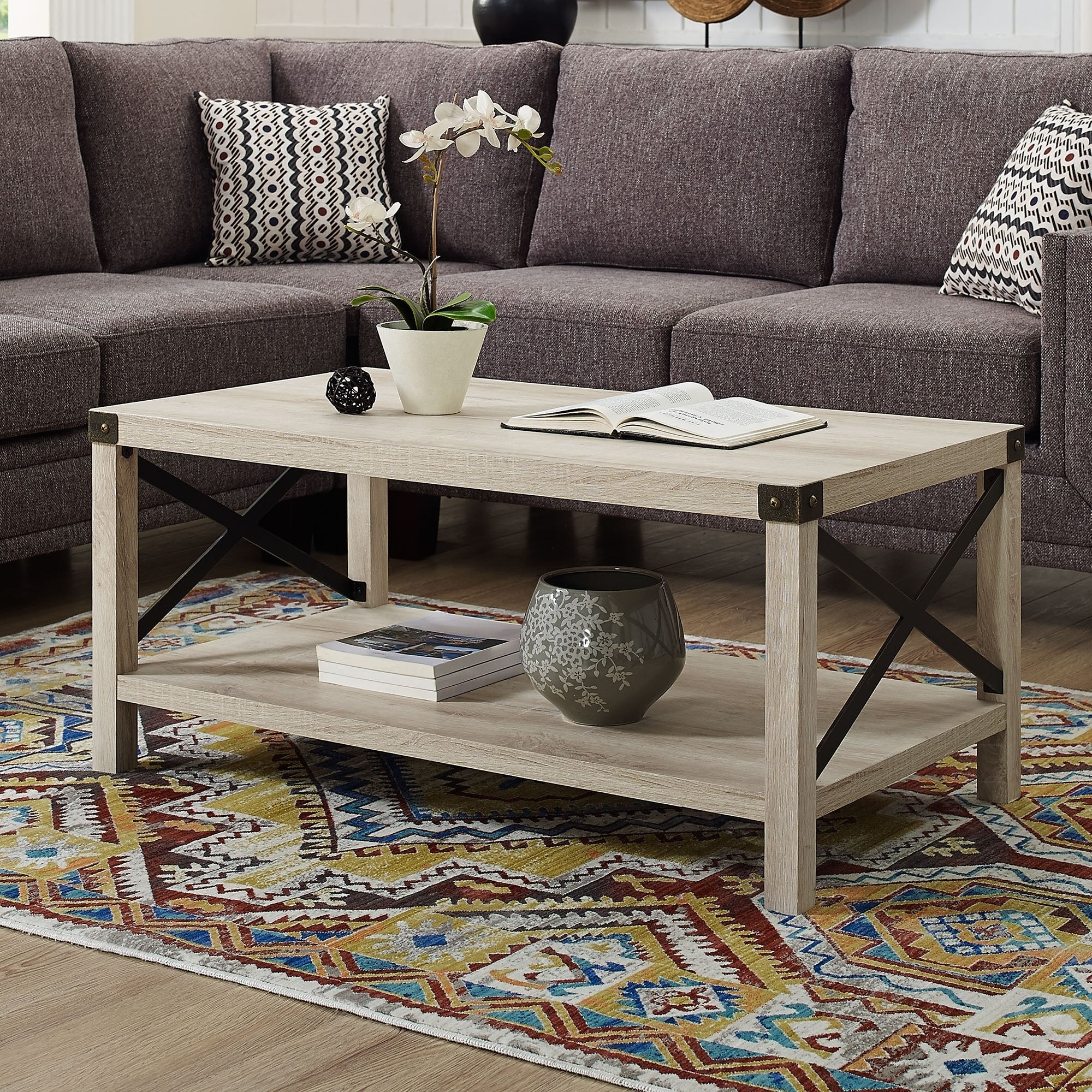 The Gray Barn Kujawa Metal X Coffee Table – 40 X 22 X 18h Pertaining To Most Current The Gray Barn Kujawa Metal X Coffee Tables – 40 X 22 X 18h (View 7 of 20)