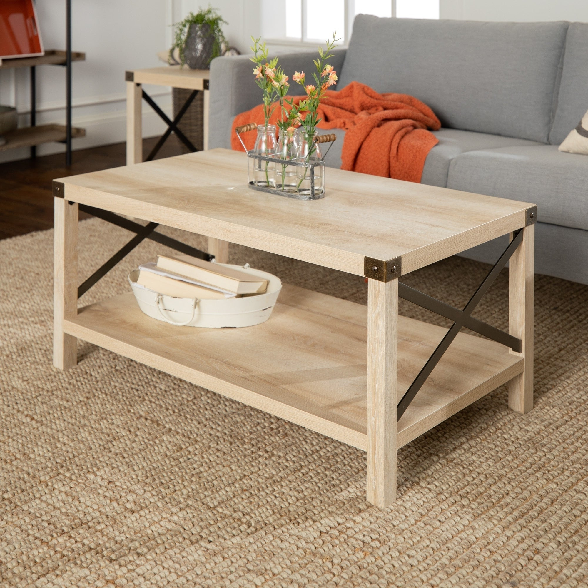 The Gray Barn Kujawa Metal X Coffee Table – 40 X 22 X 18h Within Preferred The Gray Barn Kujawa Metal X Coffee Tables – 40 X 22 X 18h (View 3 of 20)