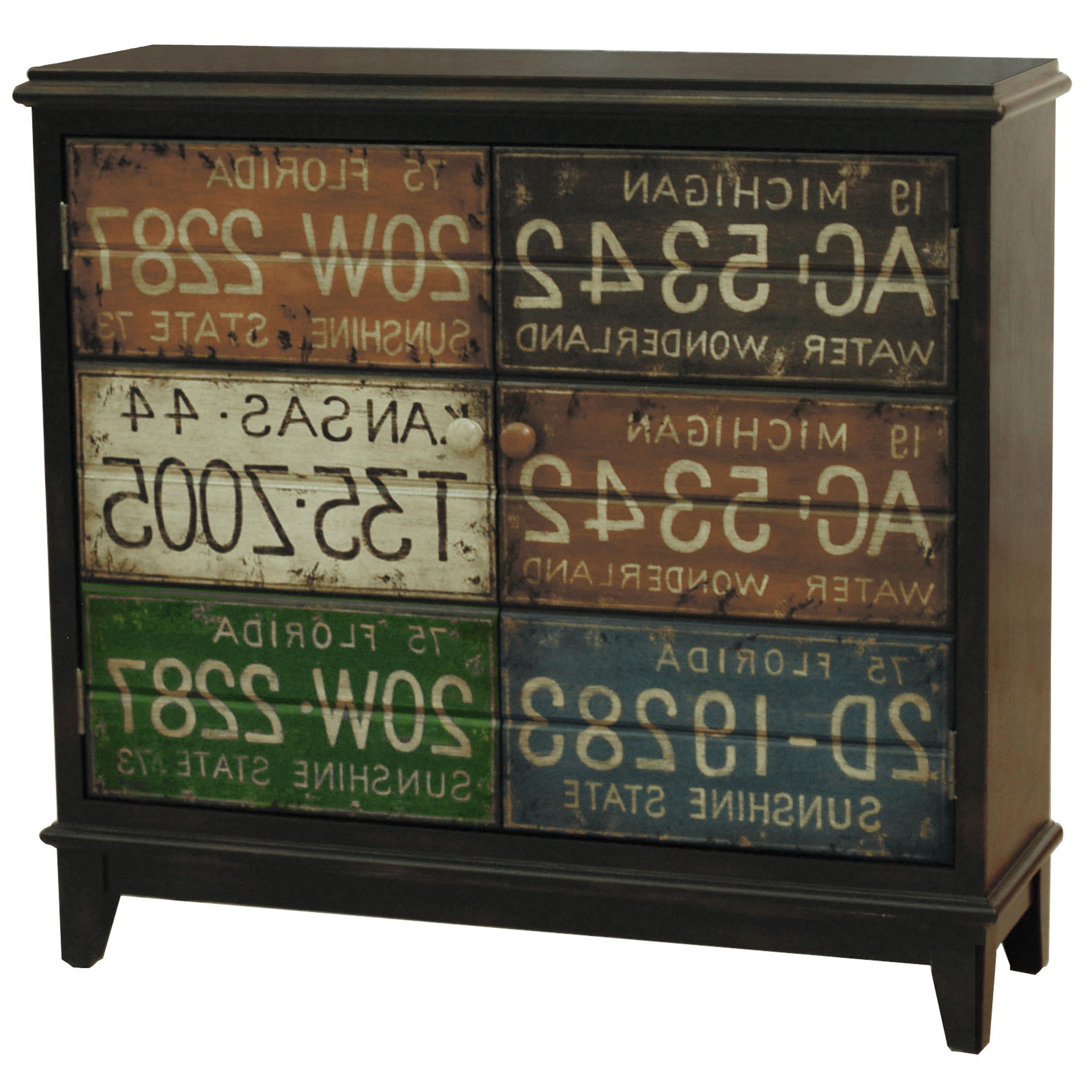 This Hand Painted Distressed Rustic Brown Finish Accent Pertaining To Massillon Sideboards (View 20 of 20)