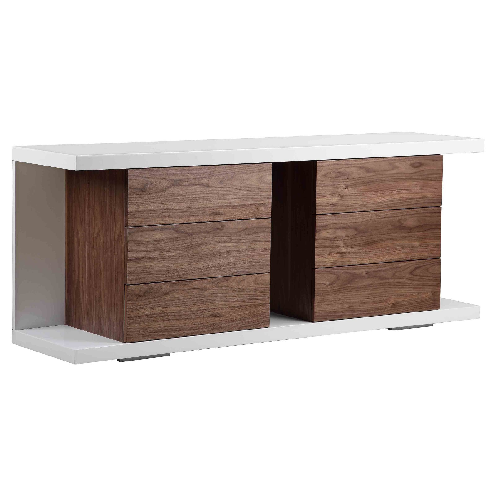 Thite Night Stand (white/walnut)pangea Home On Gilt Home Regarding Thite Sideboards (View 10 of 20)